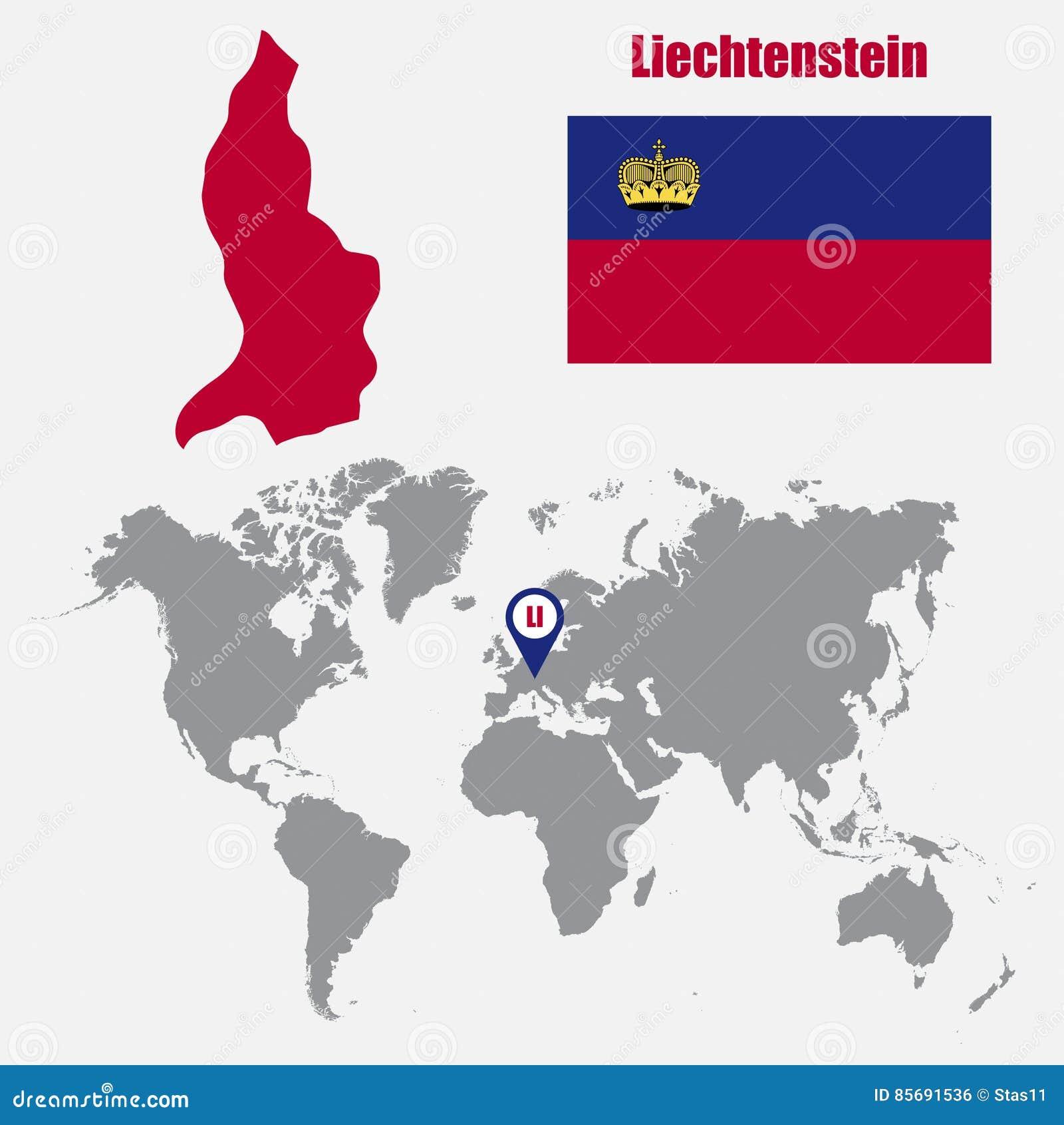 Liechtenstein carte du monde