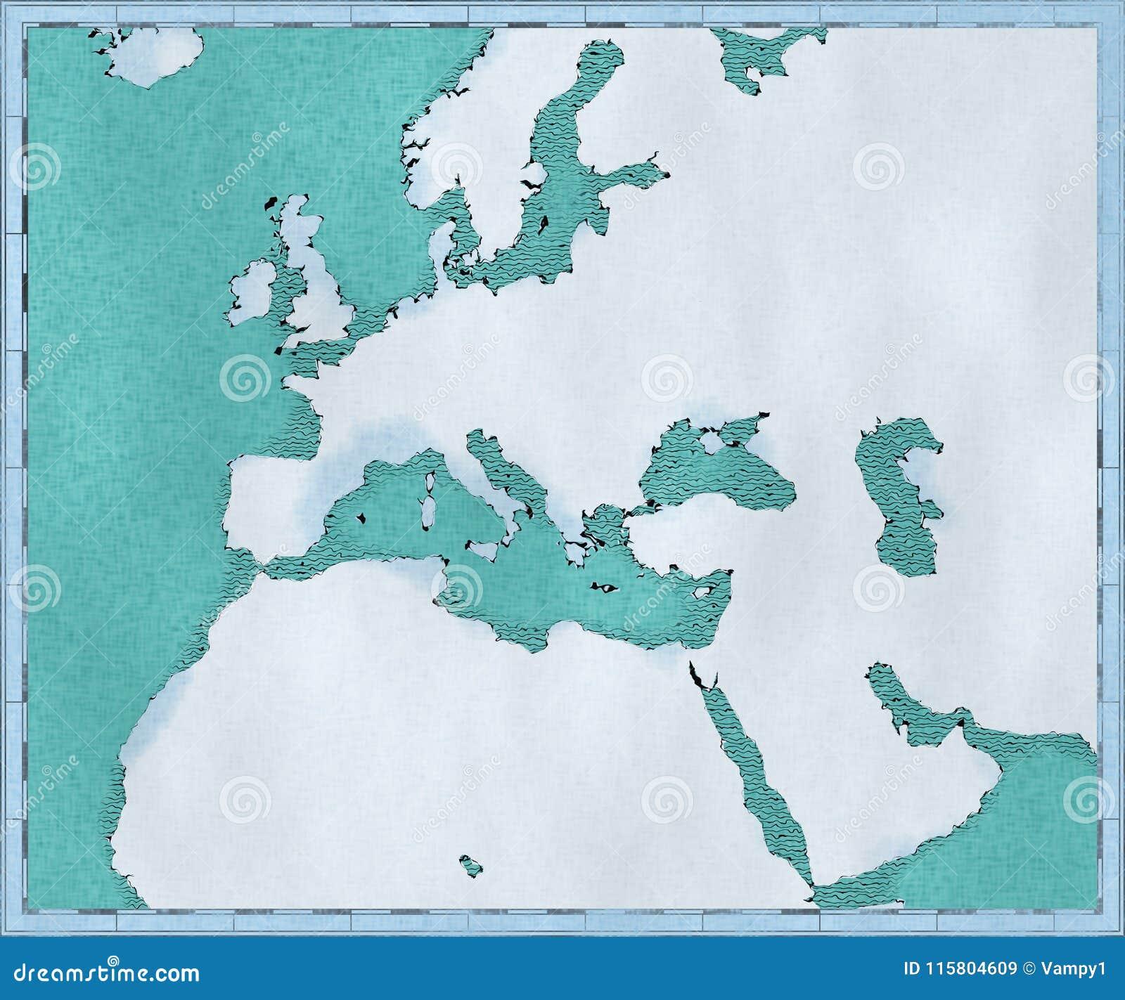 Carte De Lafrique Et Moyen Orient.Carte De La Mer Mediterranee Et L Europe L Afrique Et La