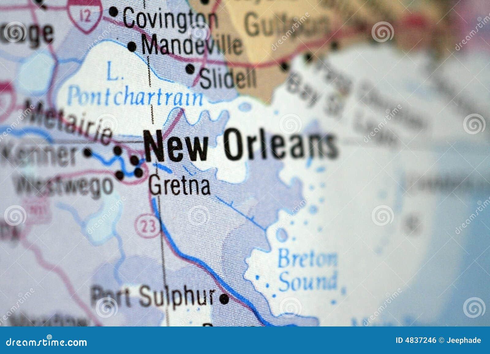 Carte De La Nouvelle Orleans Photo Stock Image Du Horizontal Cartographie 4837246