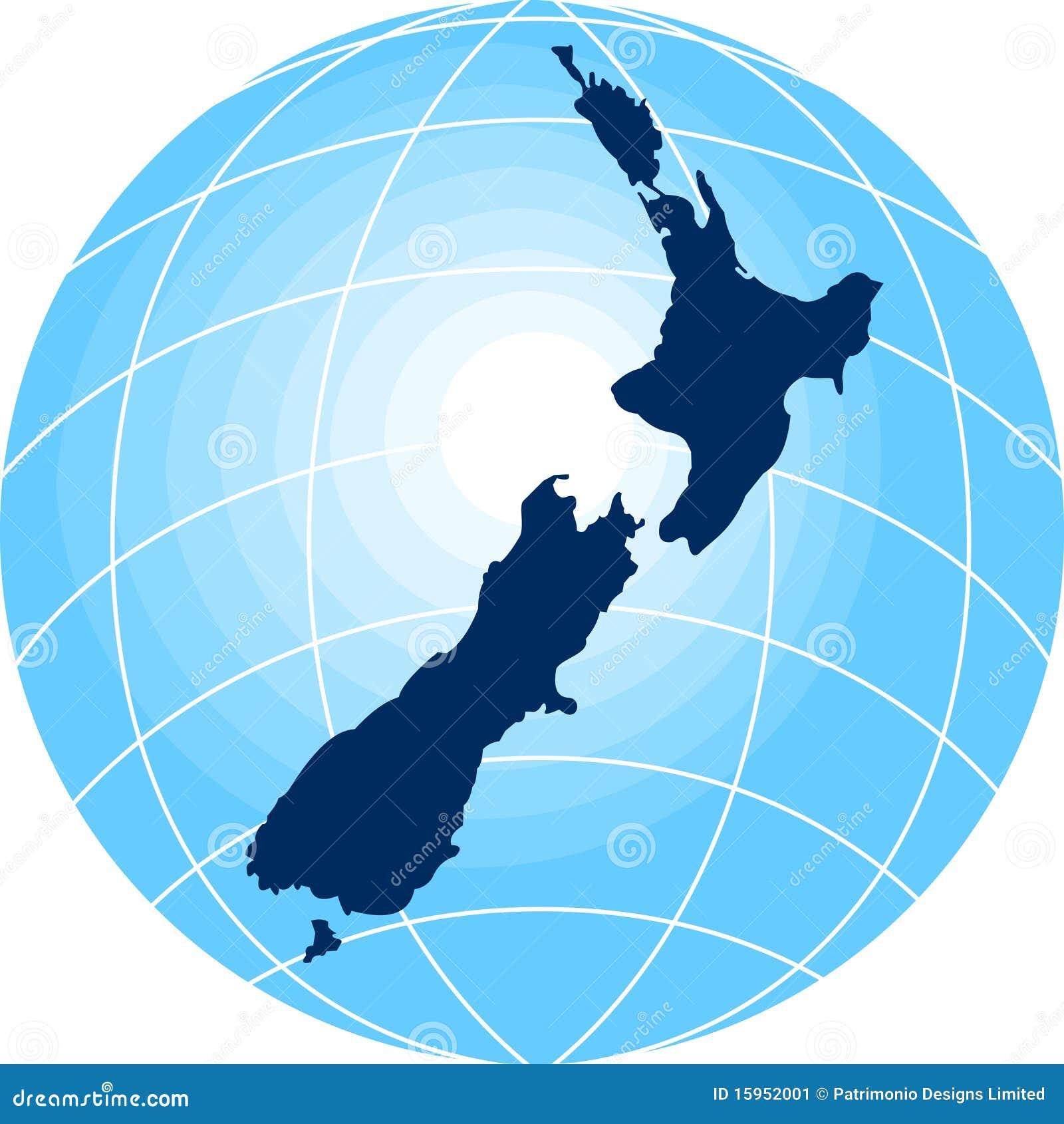 Carte Nouvelle Zelande Dessin.Carte De La Nouvelle Zelande Illustration Stock
