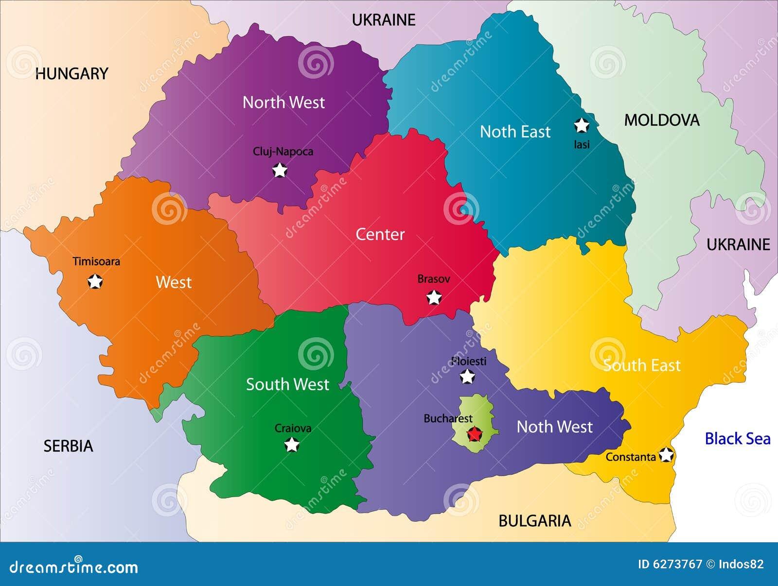 Carte De La Roumanie Photographie stock libre de droits ...