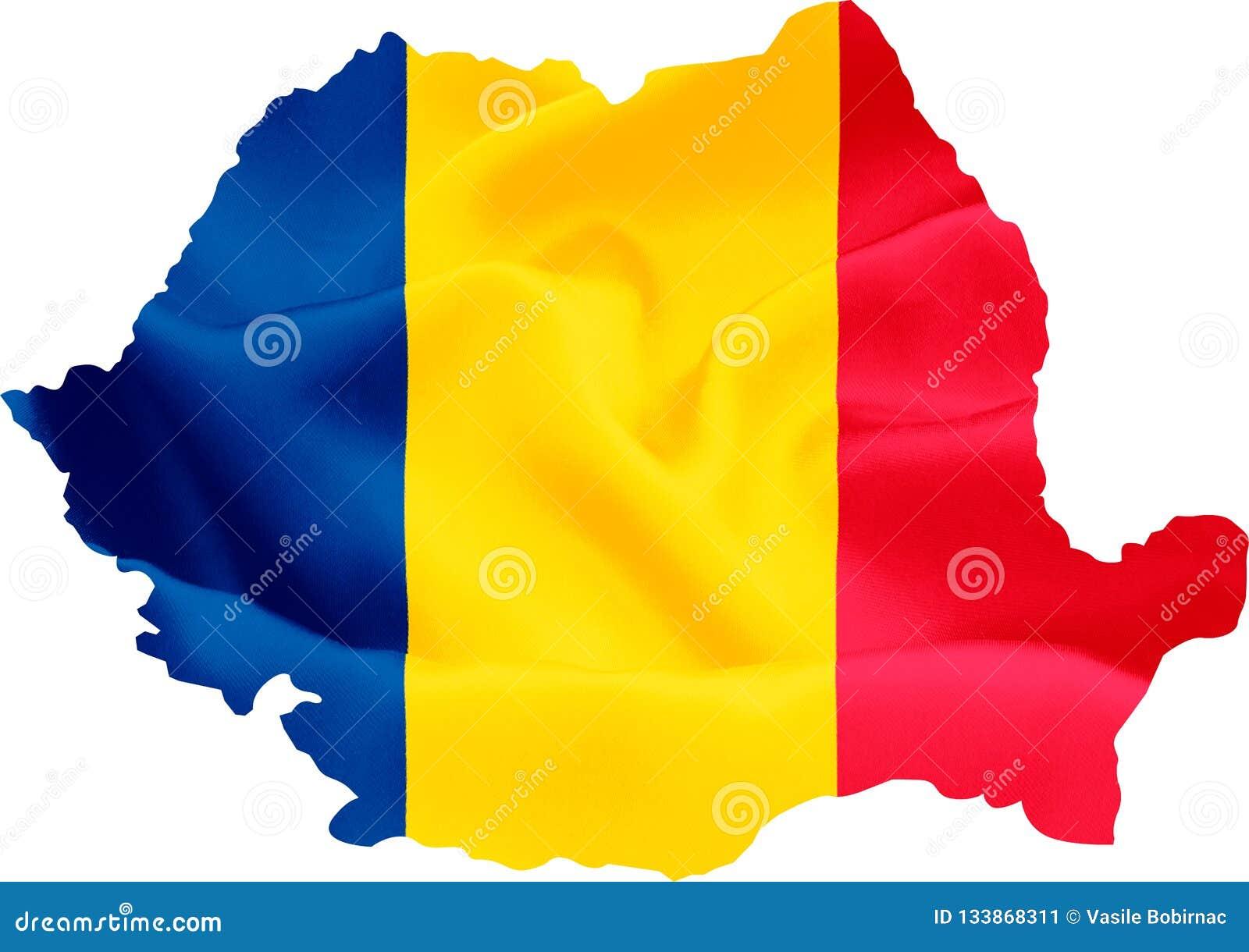 Carte de la Roumanie avec l indicateur