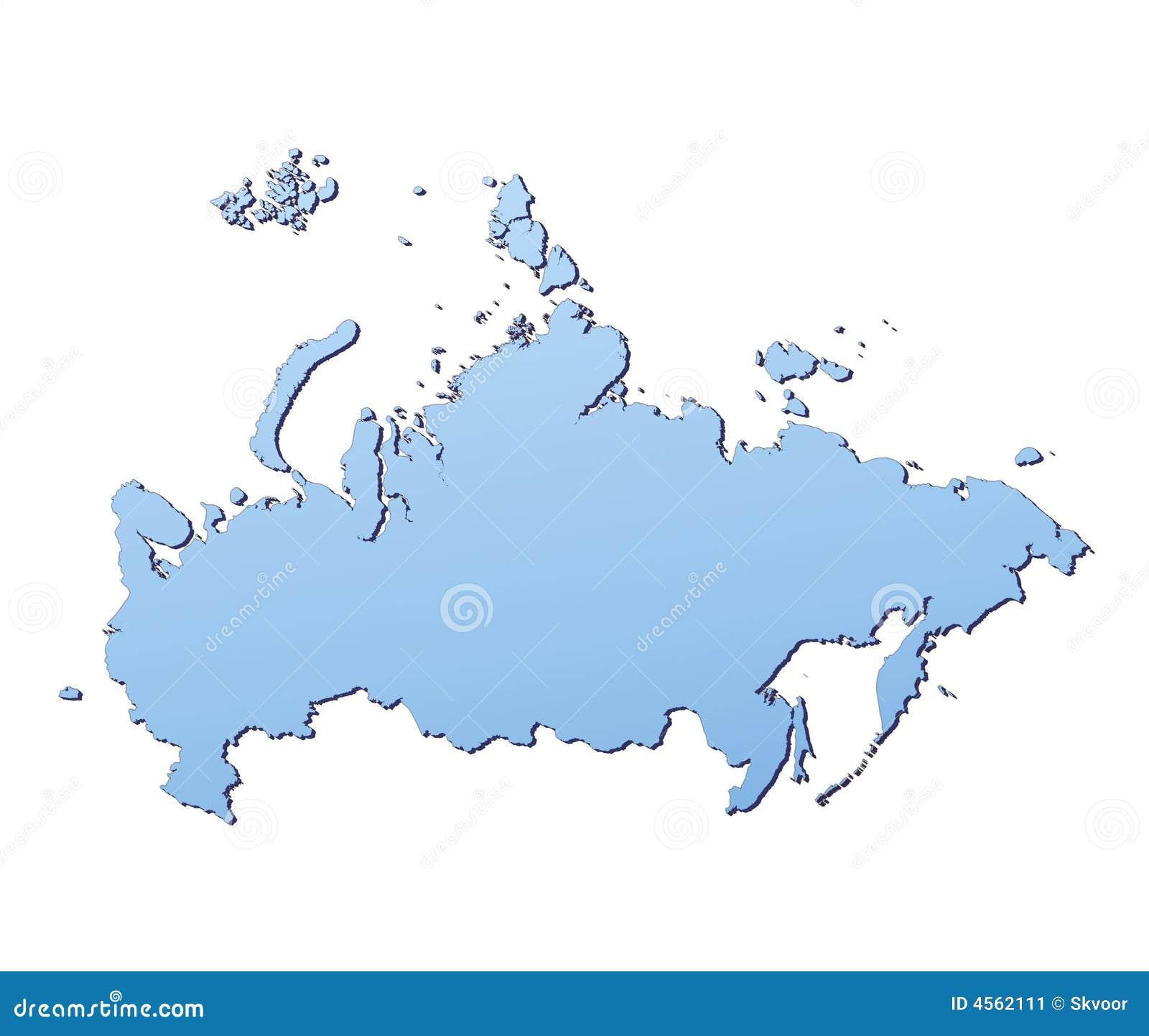 Carte de la Russie illustration stock. Illustration du dessin - 4562111