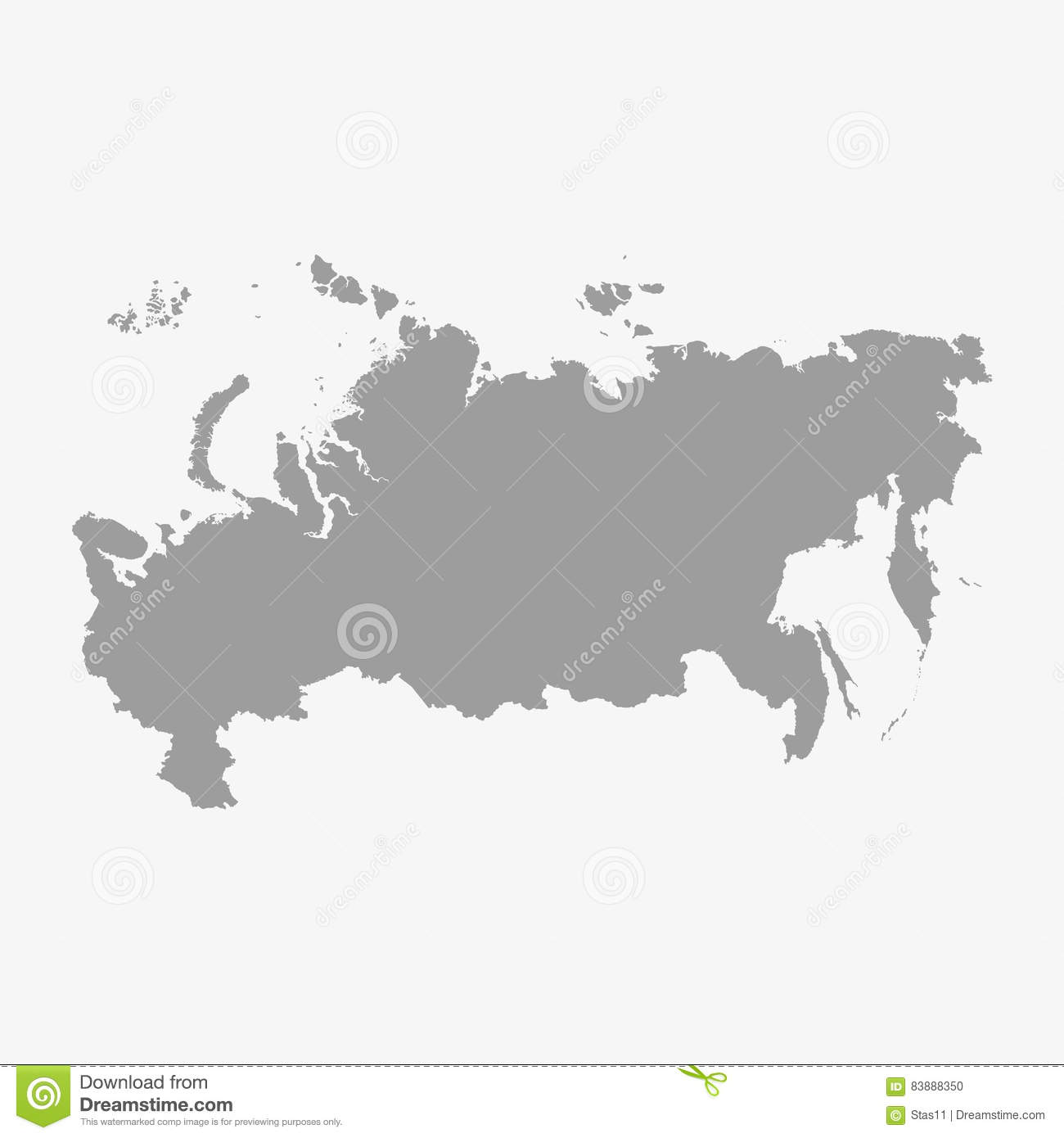 carte de la russie dans le gris sur un fond blanc illustration de vecteur illustration du. Black Bedroom Furniture Sets. Home Design Ideas
