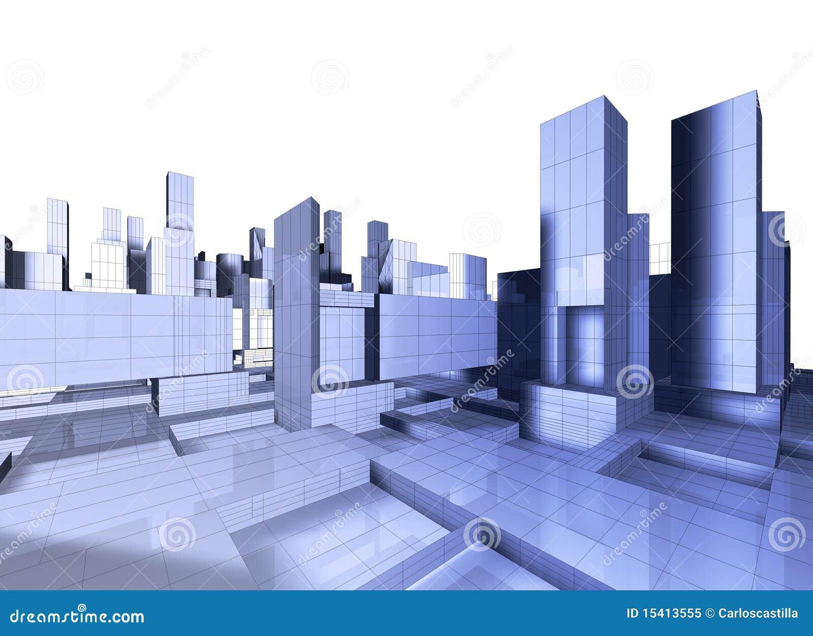 Carte de la ville 3d