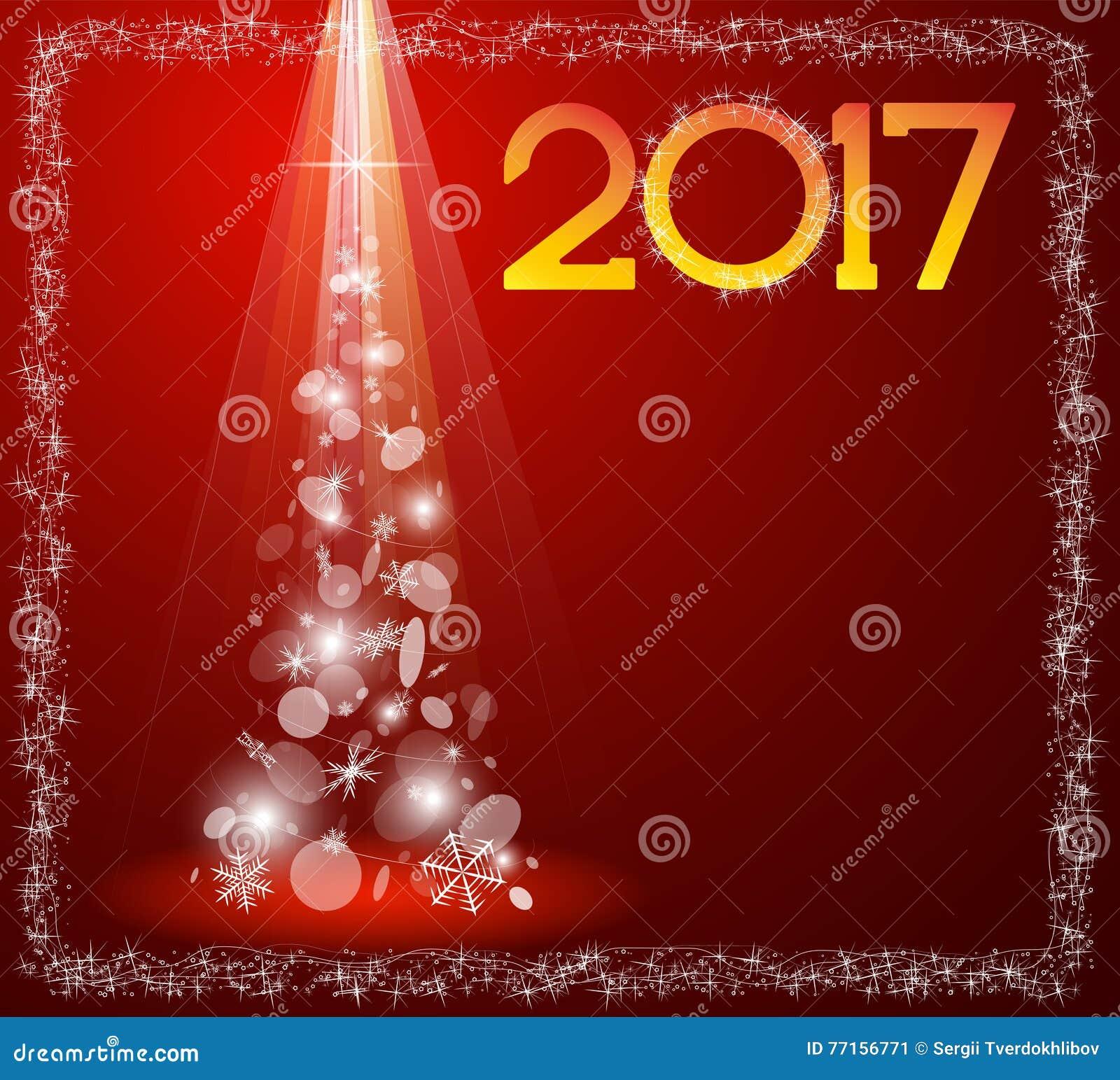 Carte de Noël avec l arbre de sapin en 2017