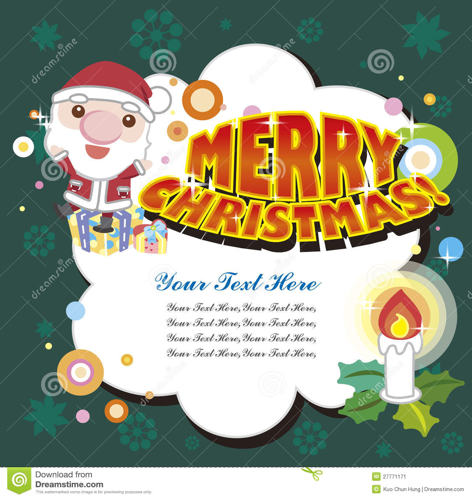 Carte de Noël de dessin animé