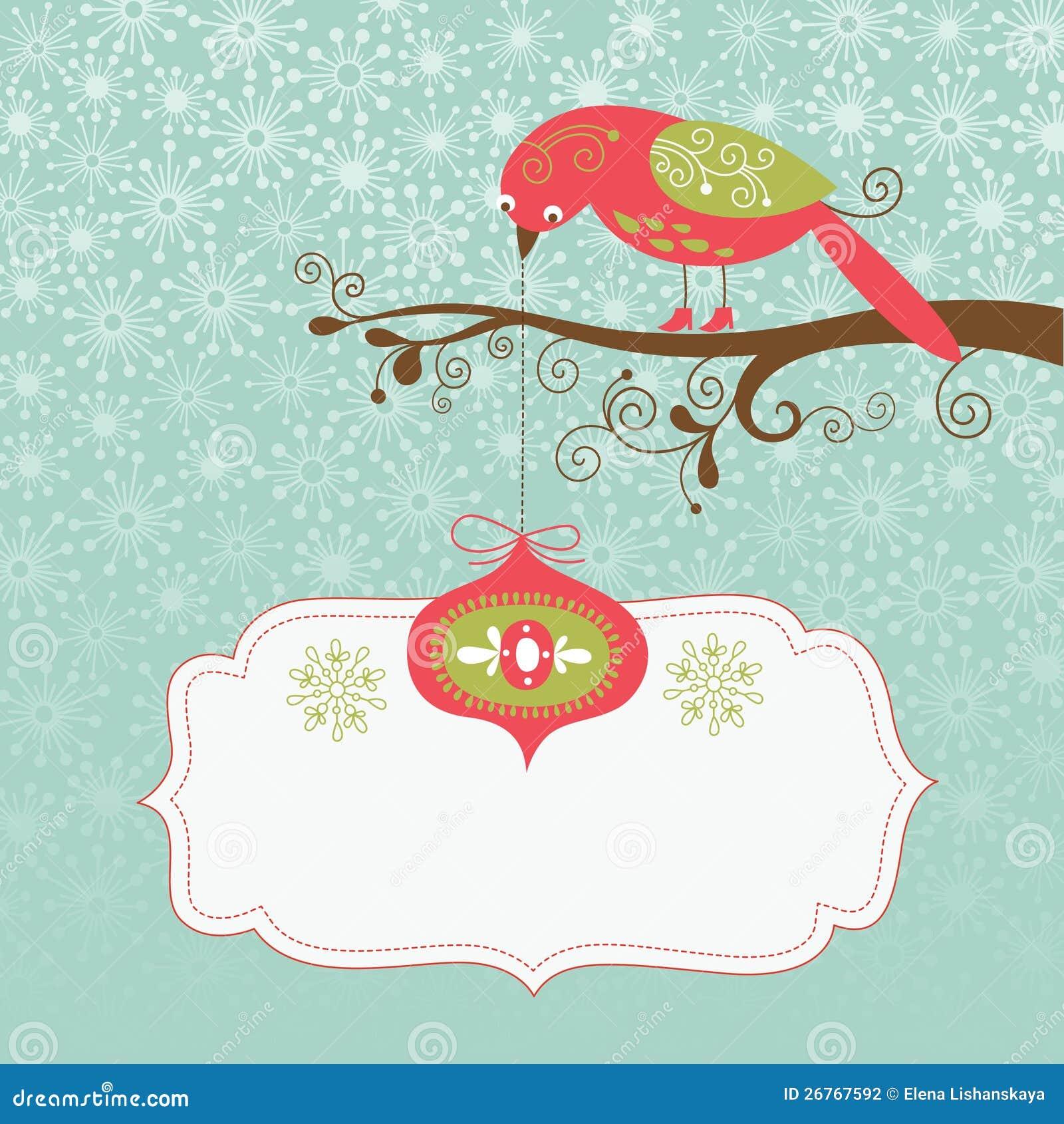 Carte de Noël de salutation