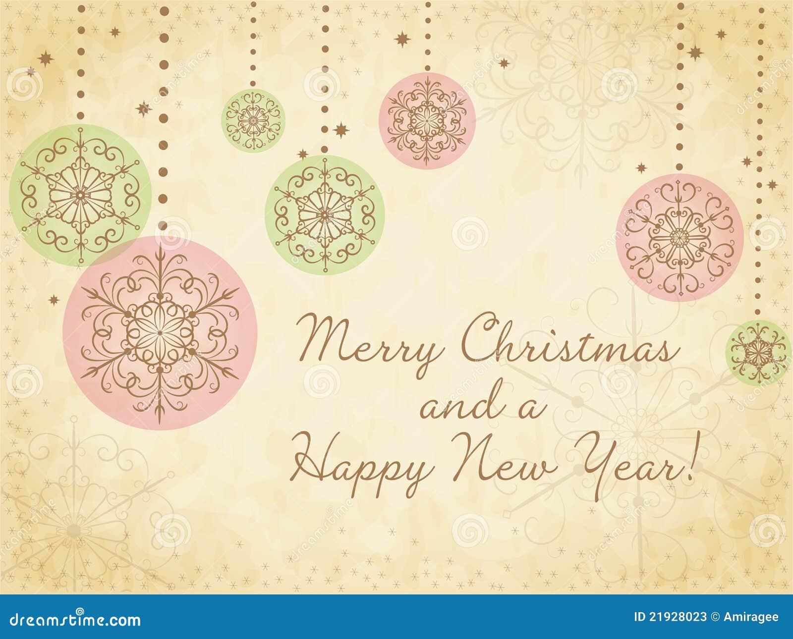 Carte de Noël mignonne avec des flocons de neige