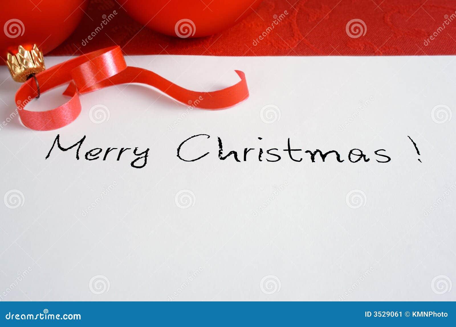 Carte de Noël rouge
