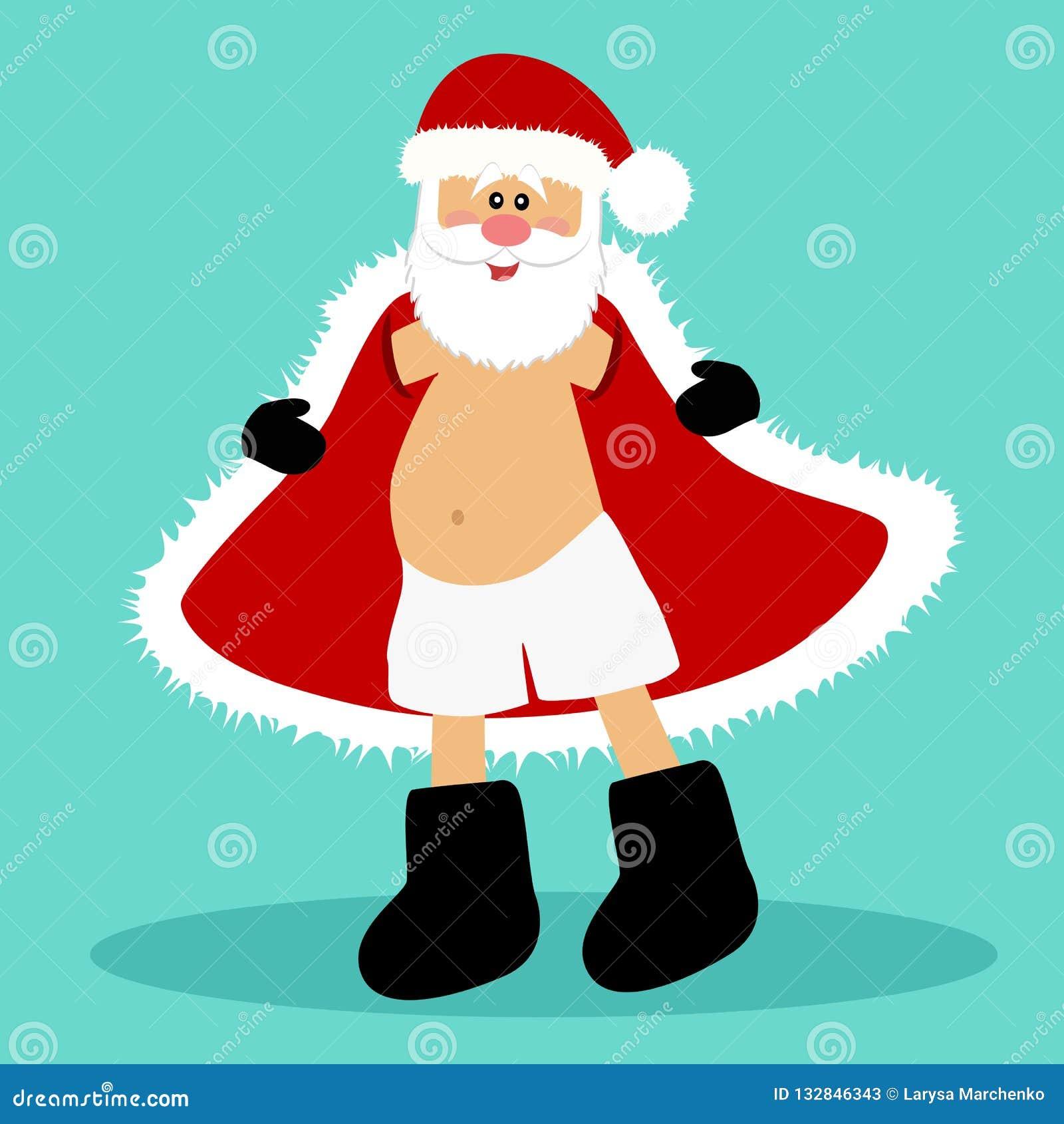 Carte De Noël Santa Santa Dans Le Slip Le Père Noël Drôle