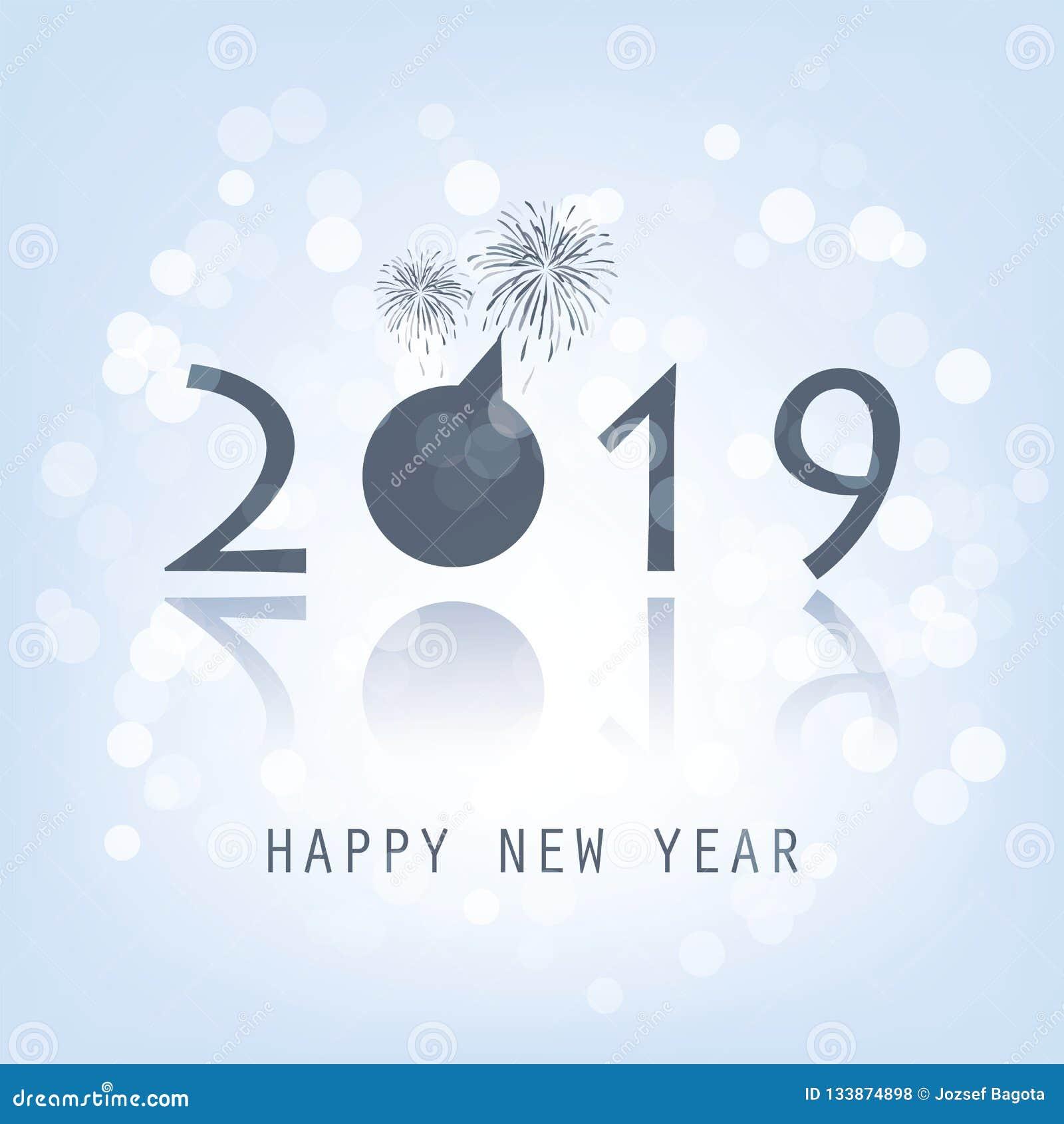 Carte de nouvelle année - 2019