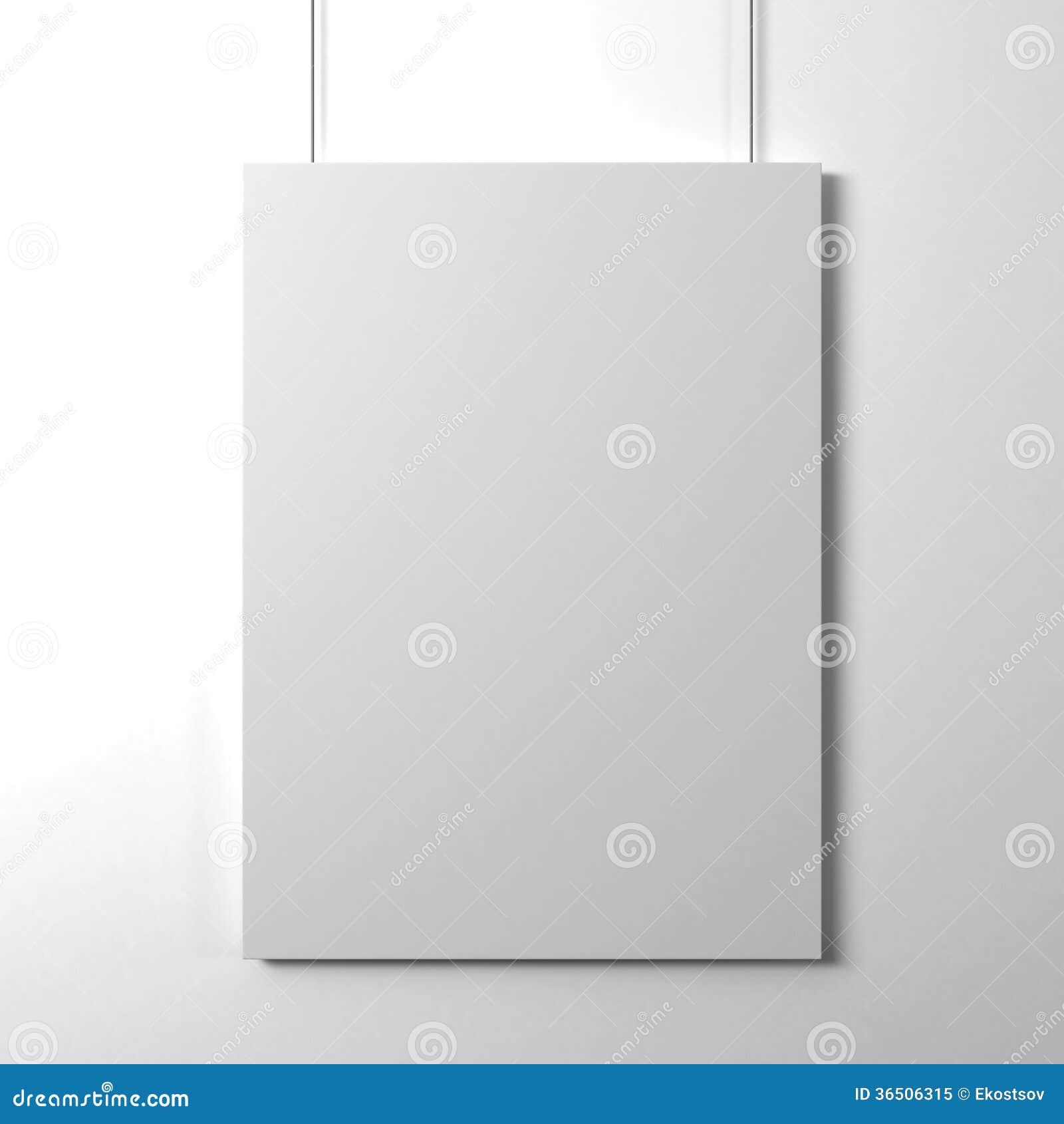Carte de papier blanc
