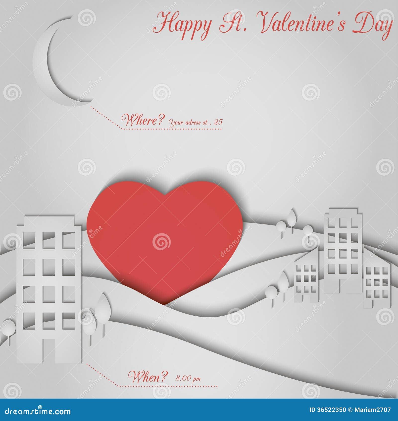 Carte de papier de valentine