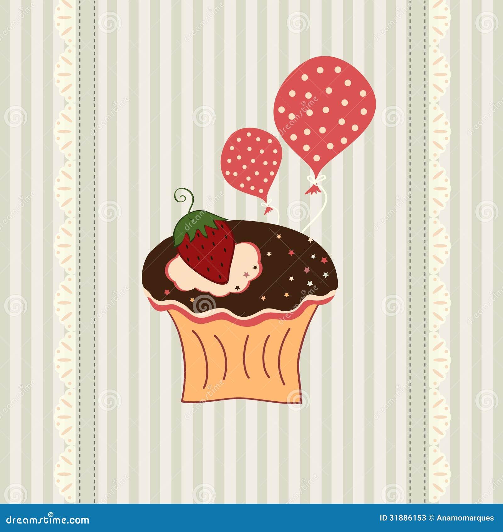 Carte de petit gâteau