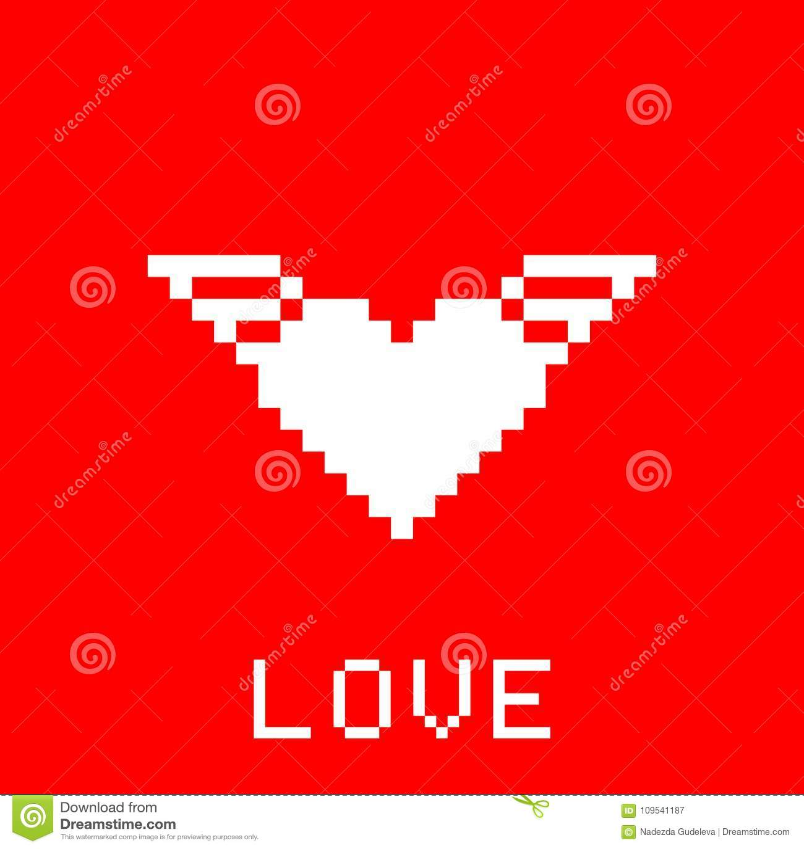 Carte De Pixel De Valentine Illustration Stock