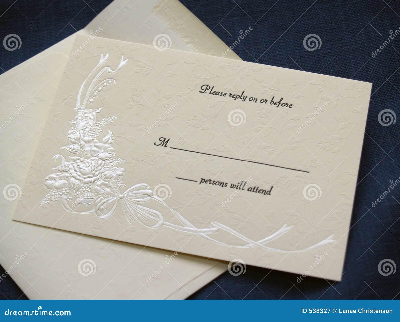 Carte- de réponse de mariage