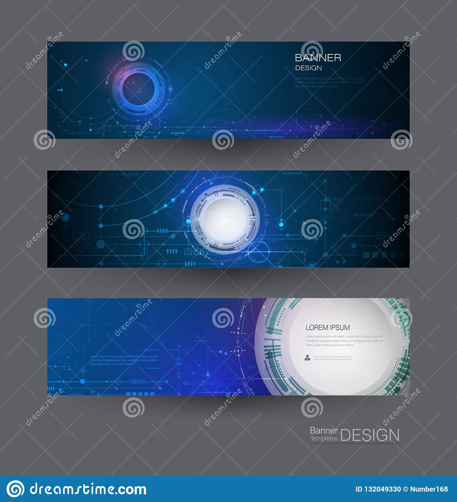 Carte de scénographie de bannière de vecteur Futuriste moderne d abrégé sur illustration, ingénierie, fond de technologie