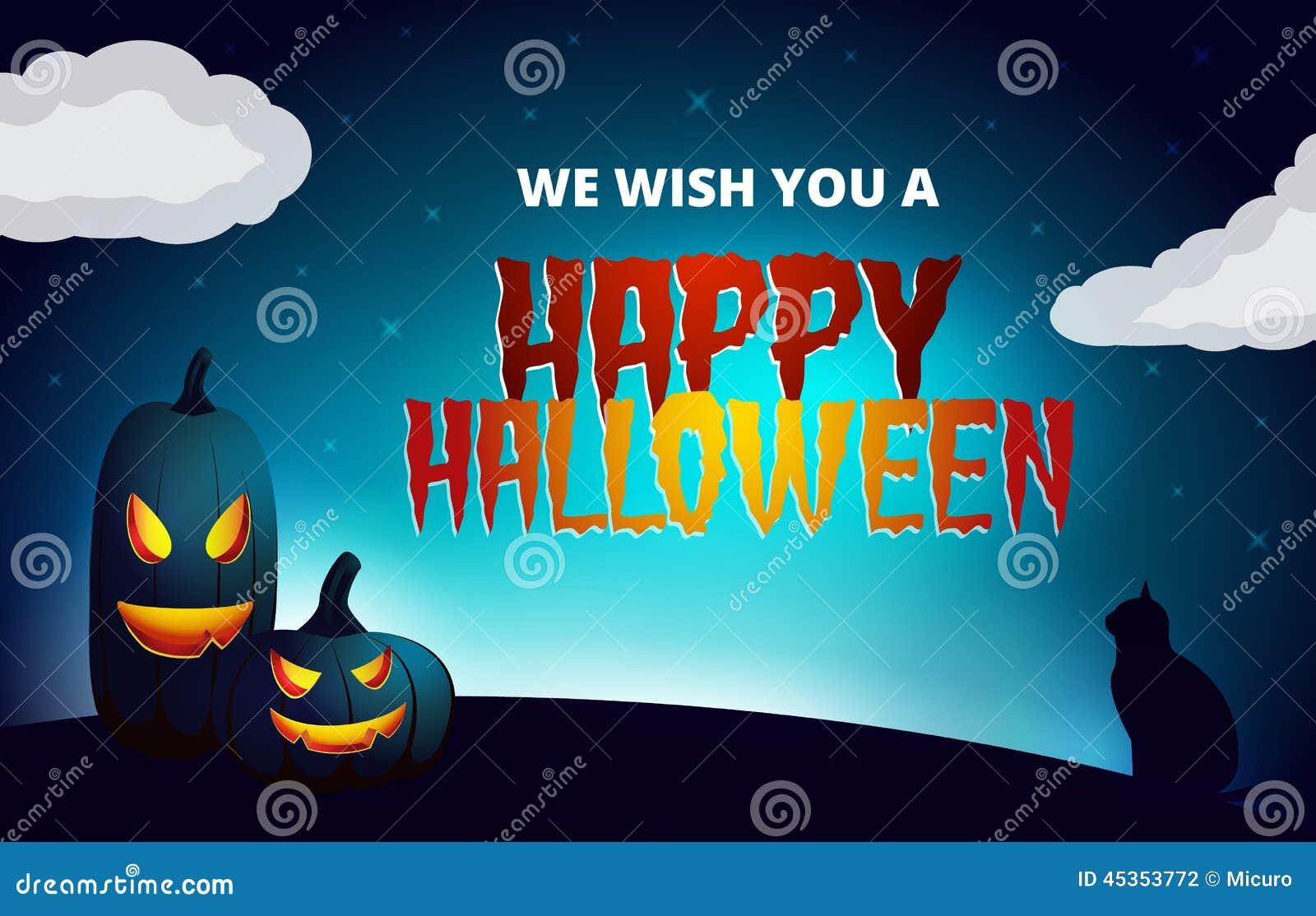 Carte de souhait de nuit de Halloween