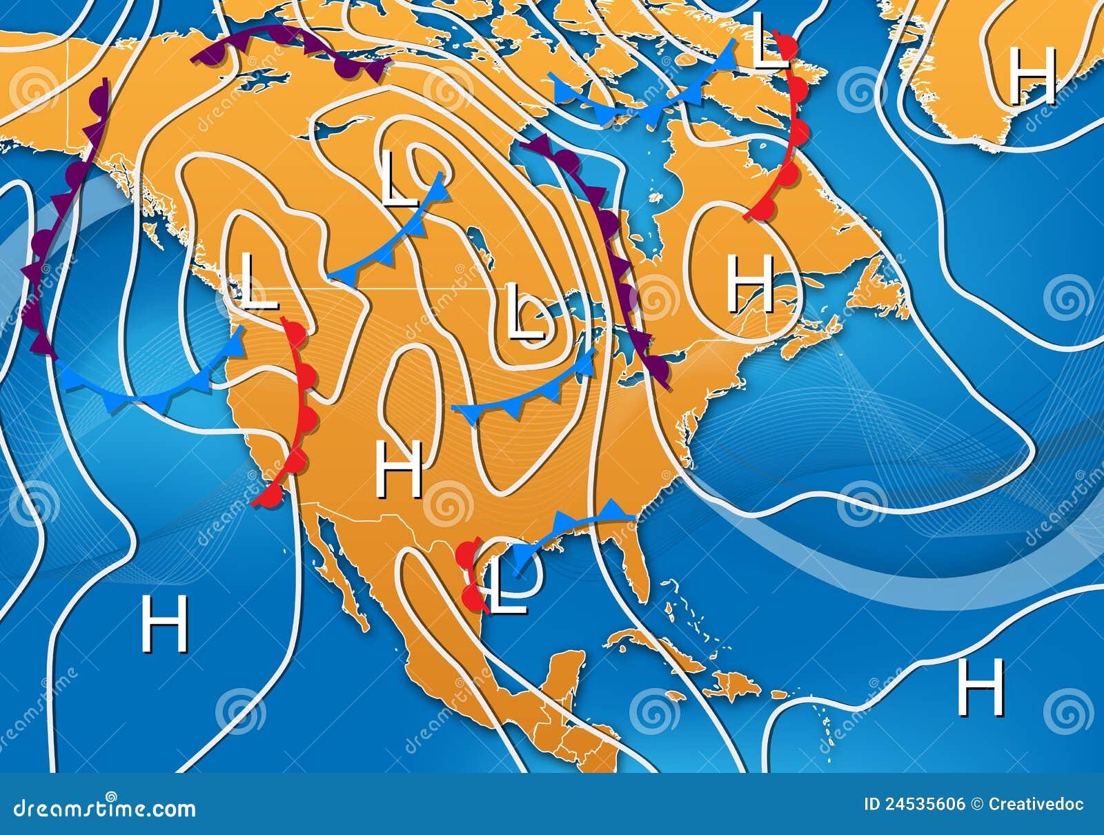 Carte de temps de l Amérique du Nord
