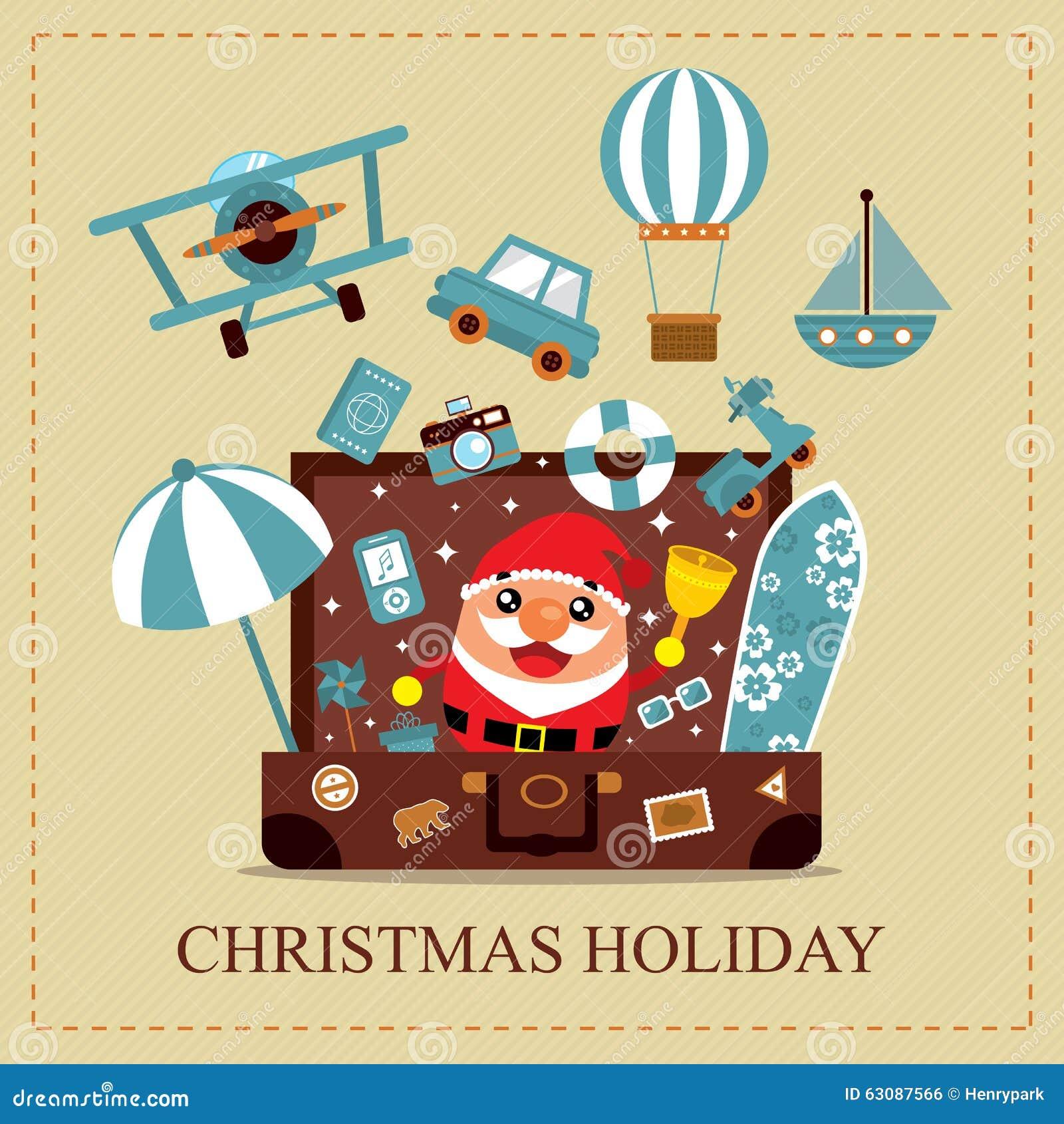 Download Carte de vacances de Noël illustration de vecteur. Illustration du bureau - 63087566