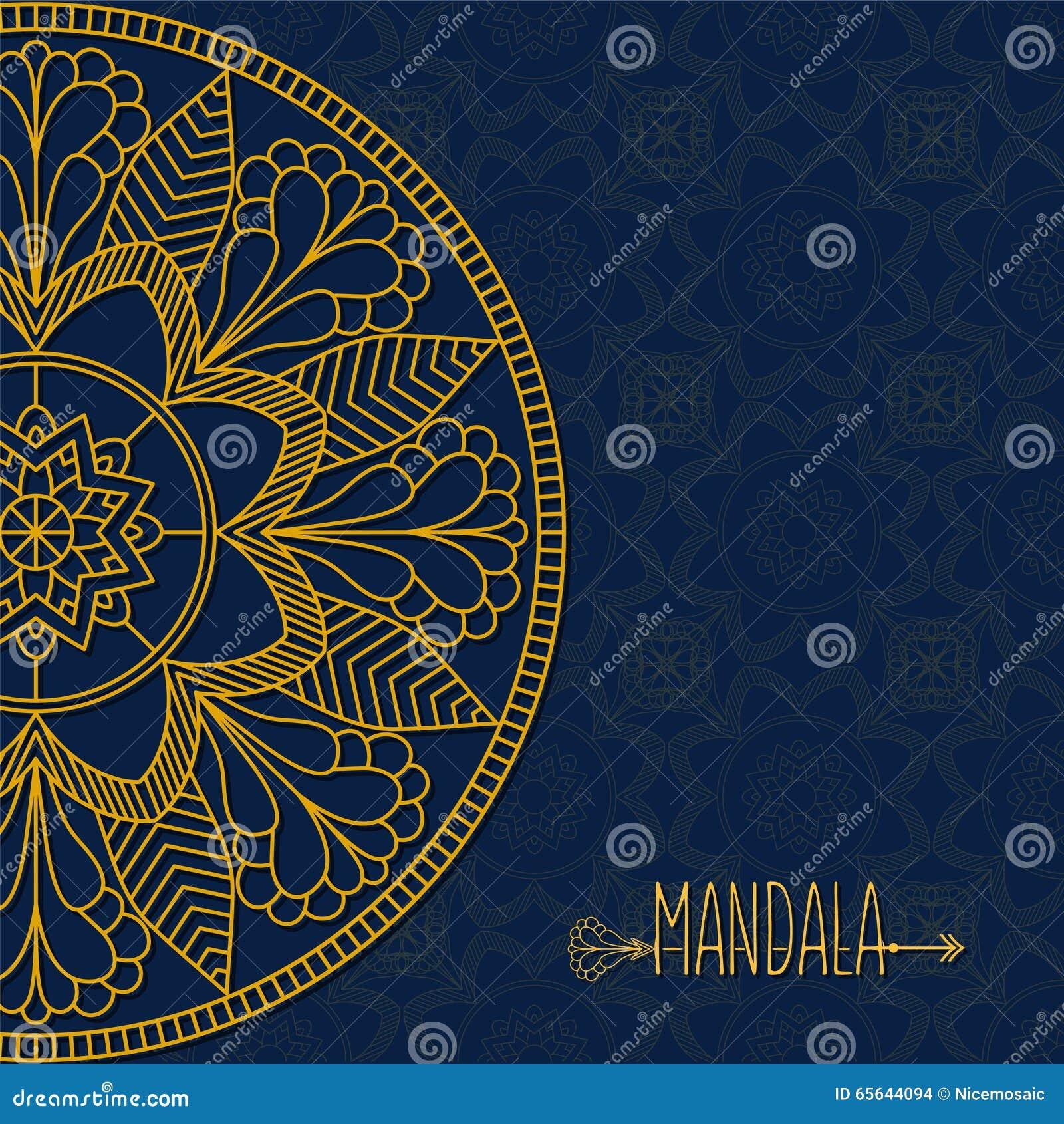Carte de vecteur avec le mandala Fond de vecteur E décoratif ethnique