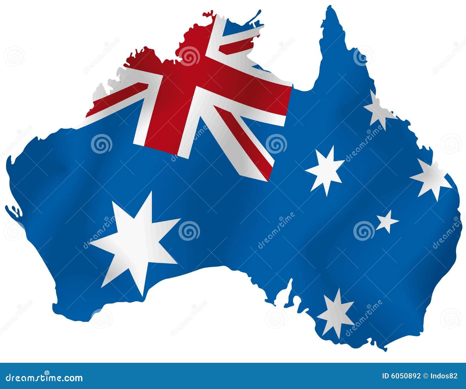 Carte de vecteur de l Australie