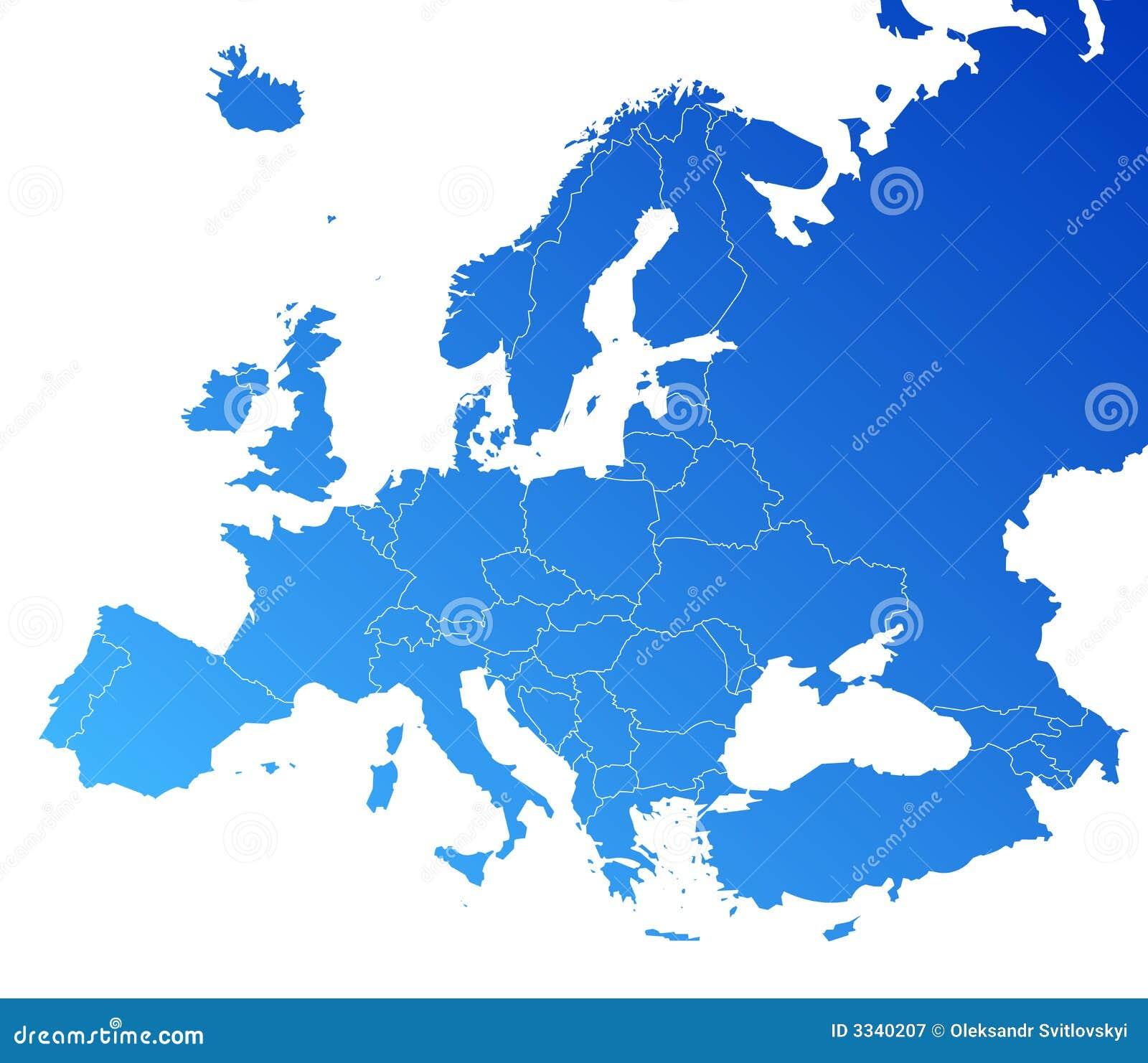 Carte de vecteur de l Europe