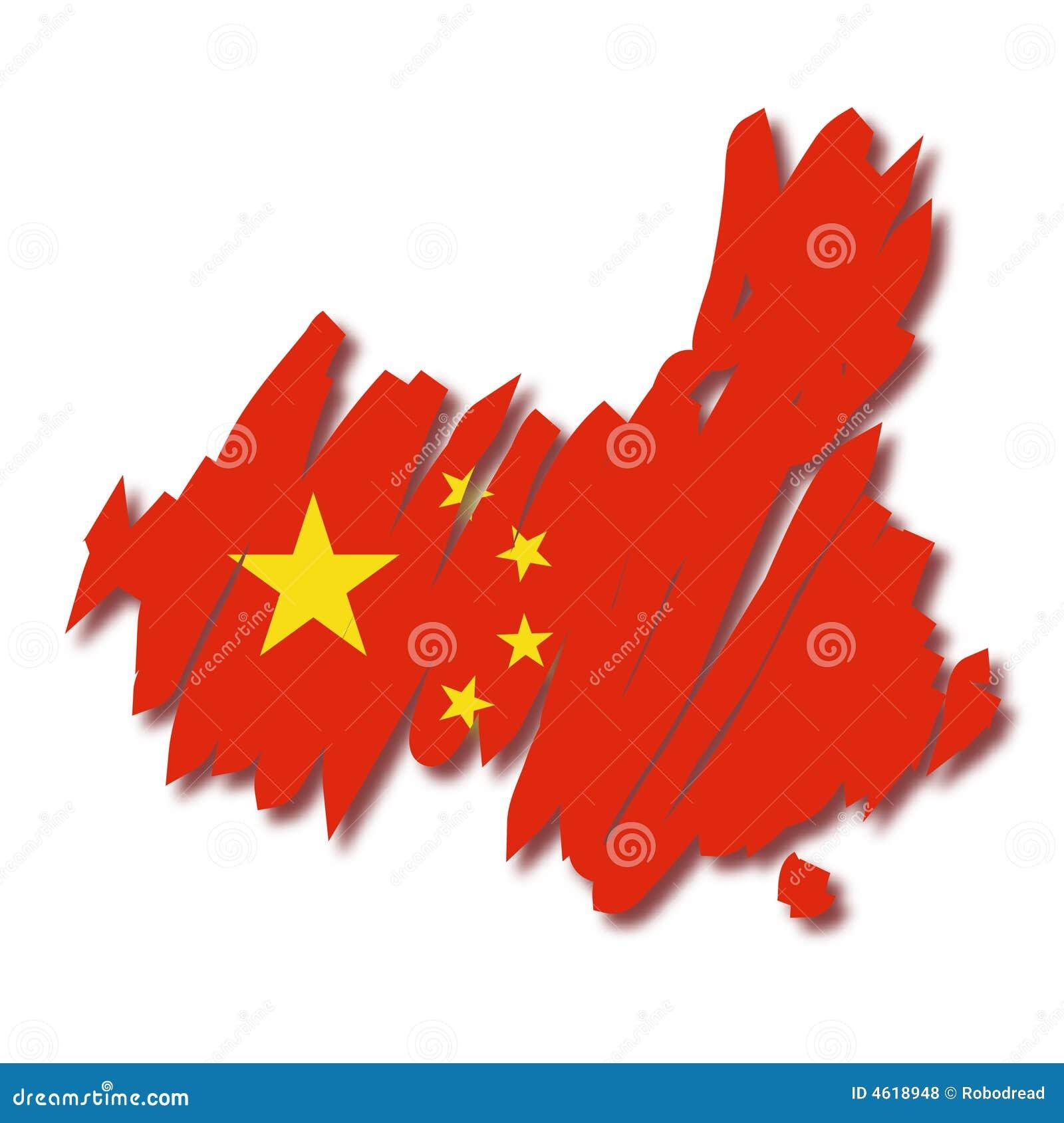 Carte de vecteur de la Chine