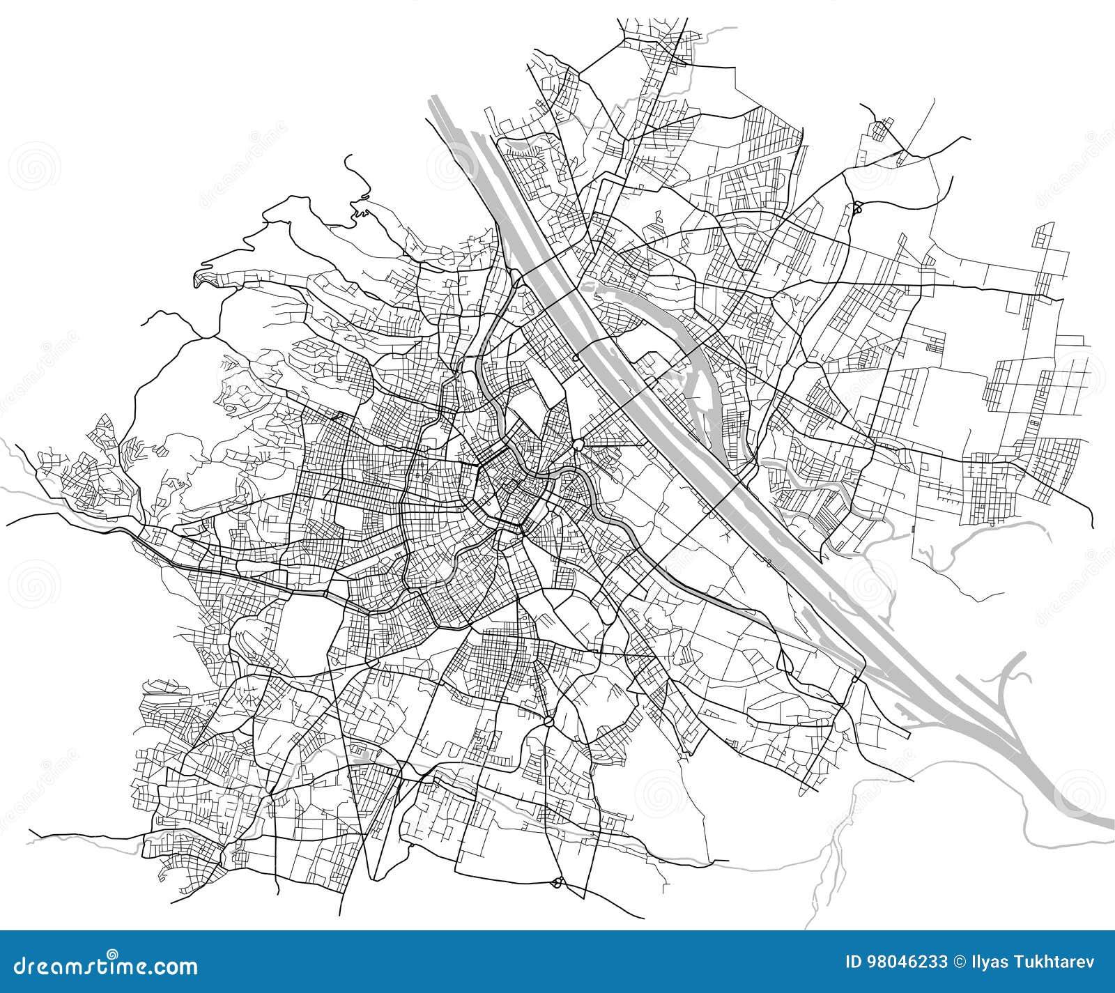 Carte De Ville De Vienne Autriche Illustration De Vecteur