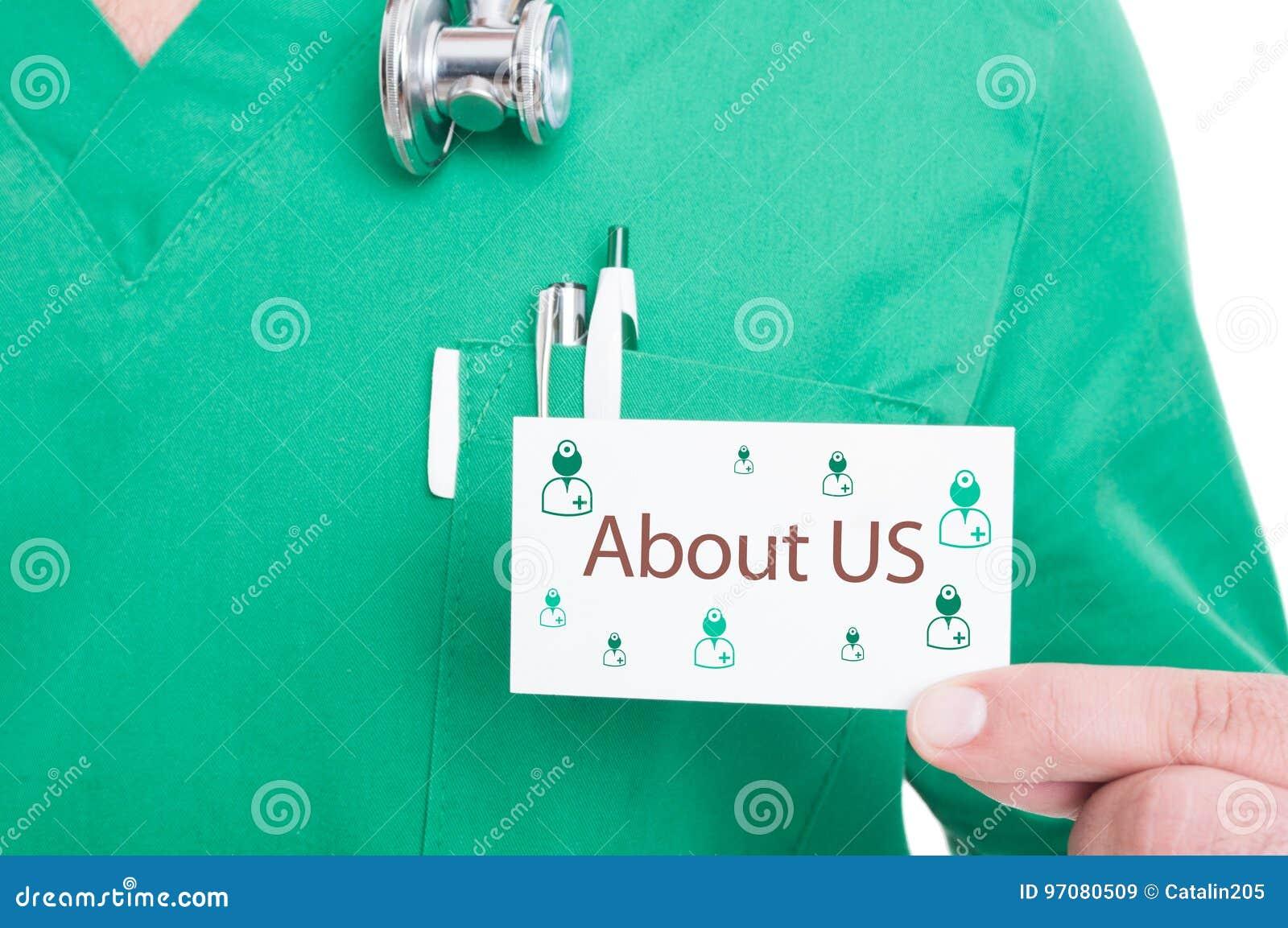 Carte De Visite D Apparence Main Docteur Pour L Appel Urgence
