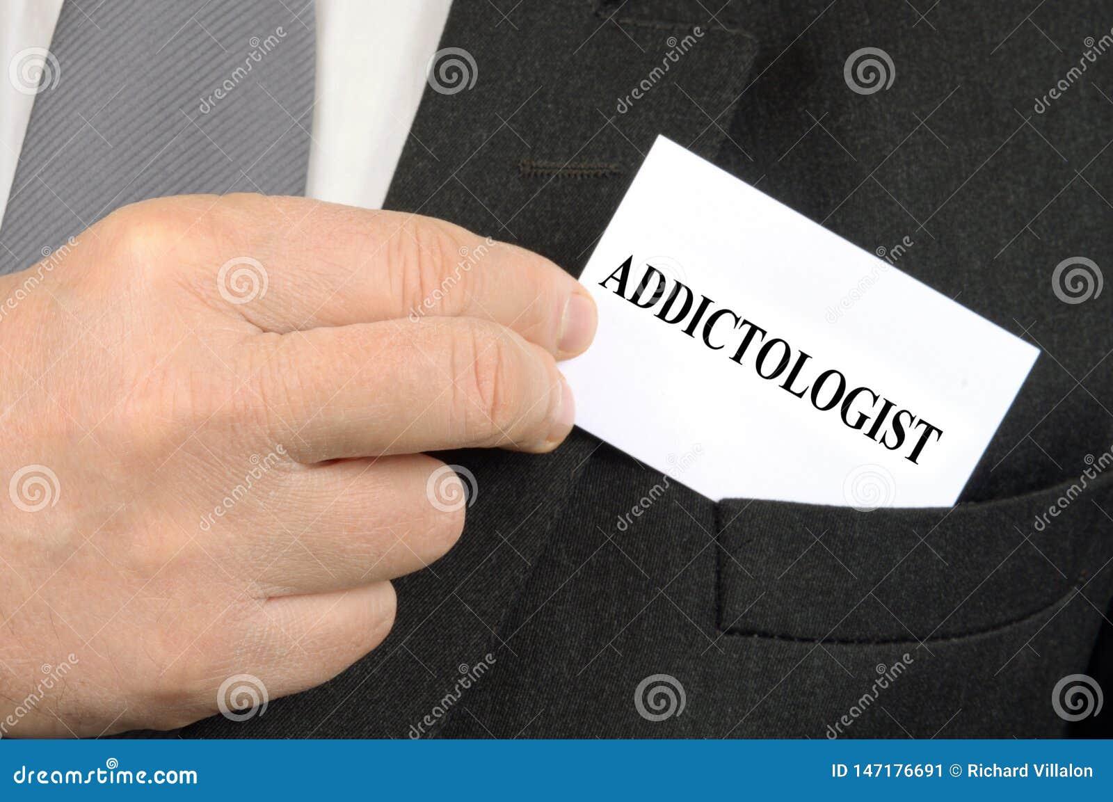 Carte de visite professionnelle de visite d Addictologist