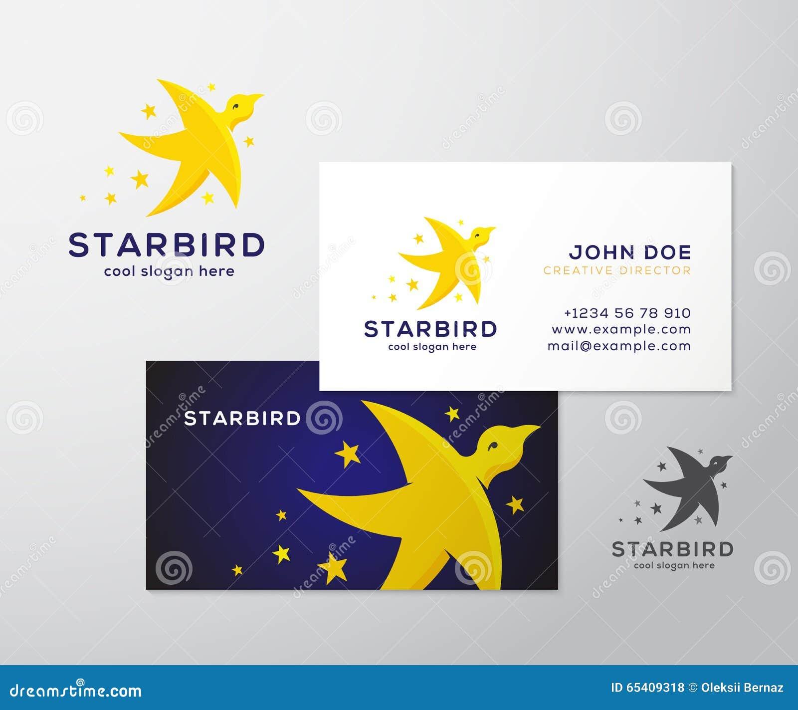 Carte De Visite Professionnelle Logo Et Vecteur D Abrg Sur Oiseau