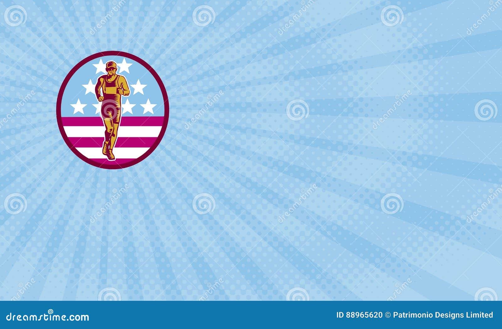 Carte De Visite Professionnelle Amricaine Marathon