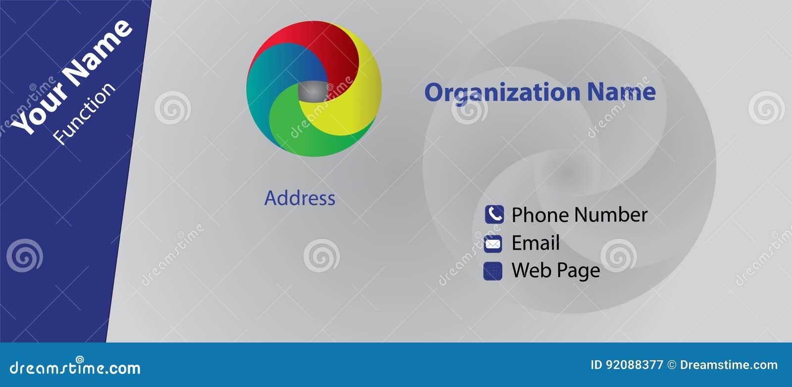 Carte De Visite Professionnelle Avec L Exemple Logo