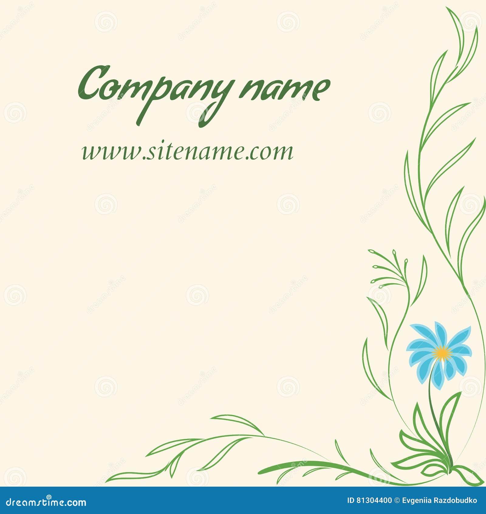 Download Carte De Visite Professionnelle Avec Lornement Floral Dans Le Style Indien