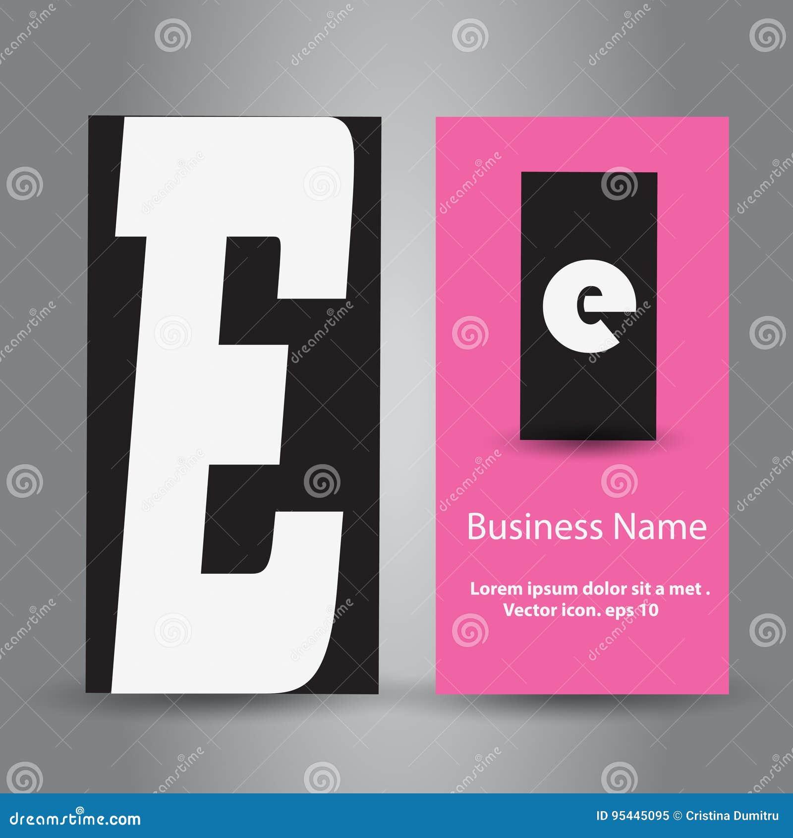 Carte De Visite Professionnelle Avec La Conception Logo Lettre E D