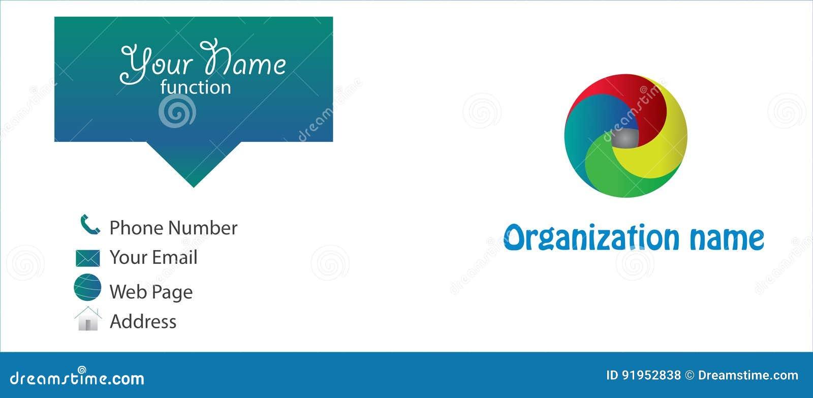 Carte De Visite Professionnelle Avec Le Logo Fait Sur Commande
