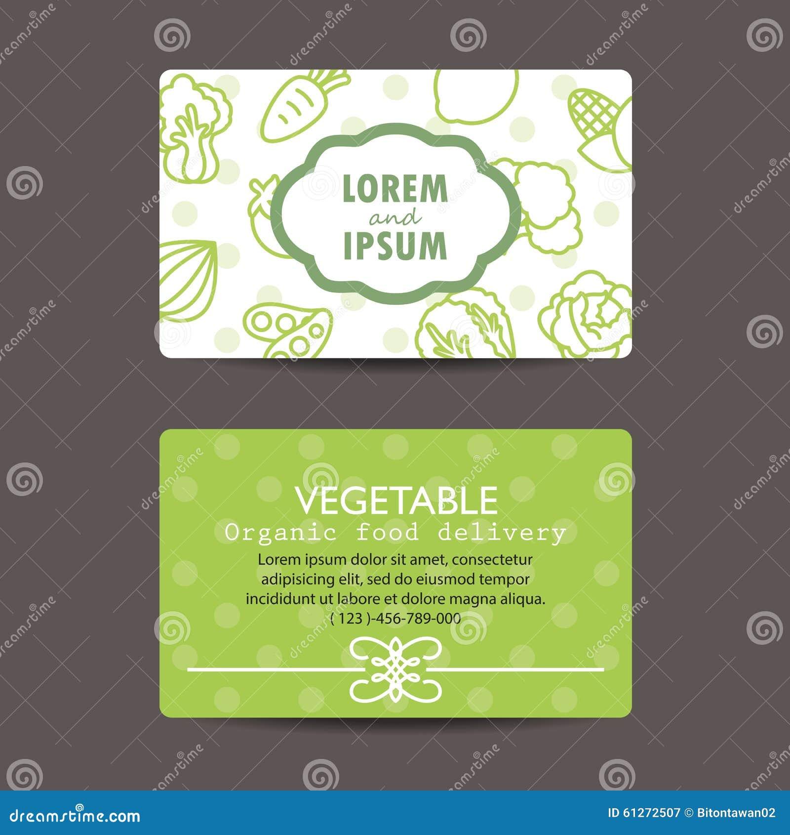 Carte De Visite Professionnelle D Apercu L Impression Legumes Organiques Frais