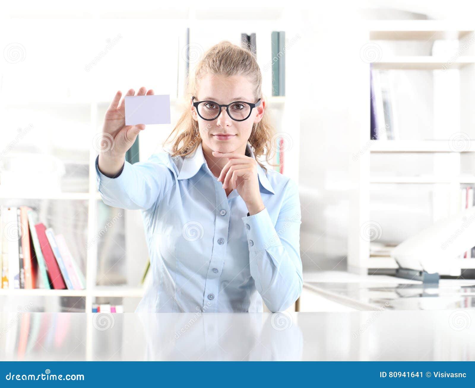 Download Carte De Visite Professionnelle Blanc Dexposition Femme Image Stock