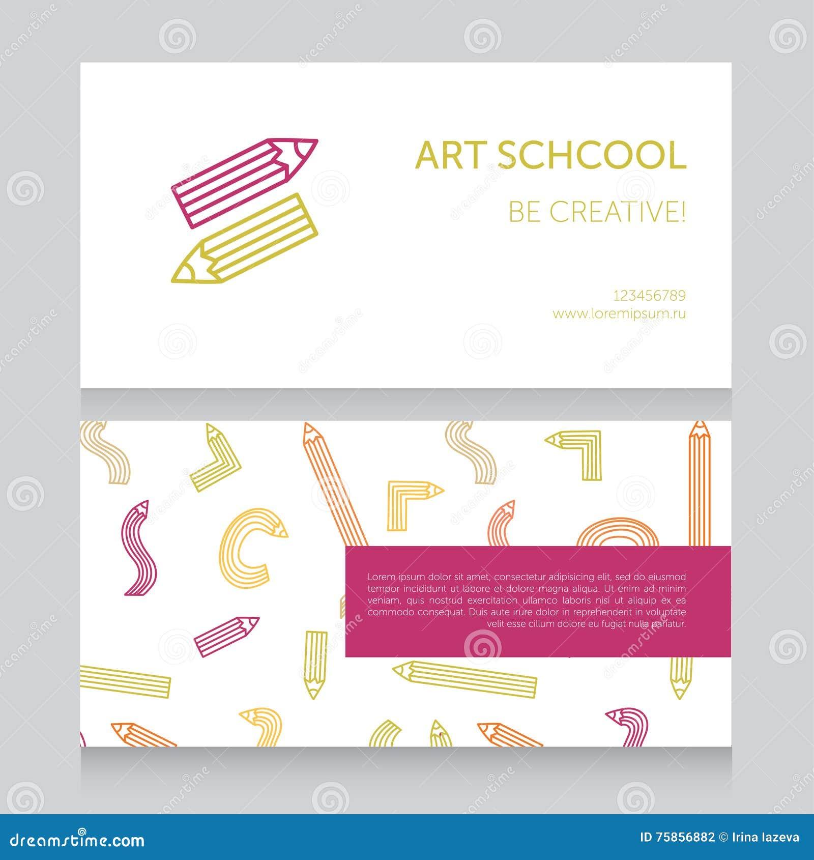 Carte De Visite Professionnelle Calibre D Cole Art