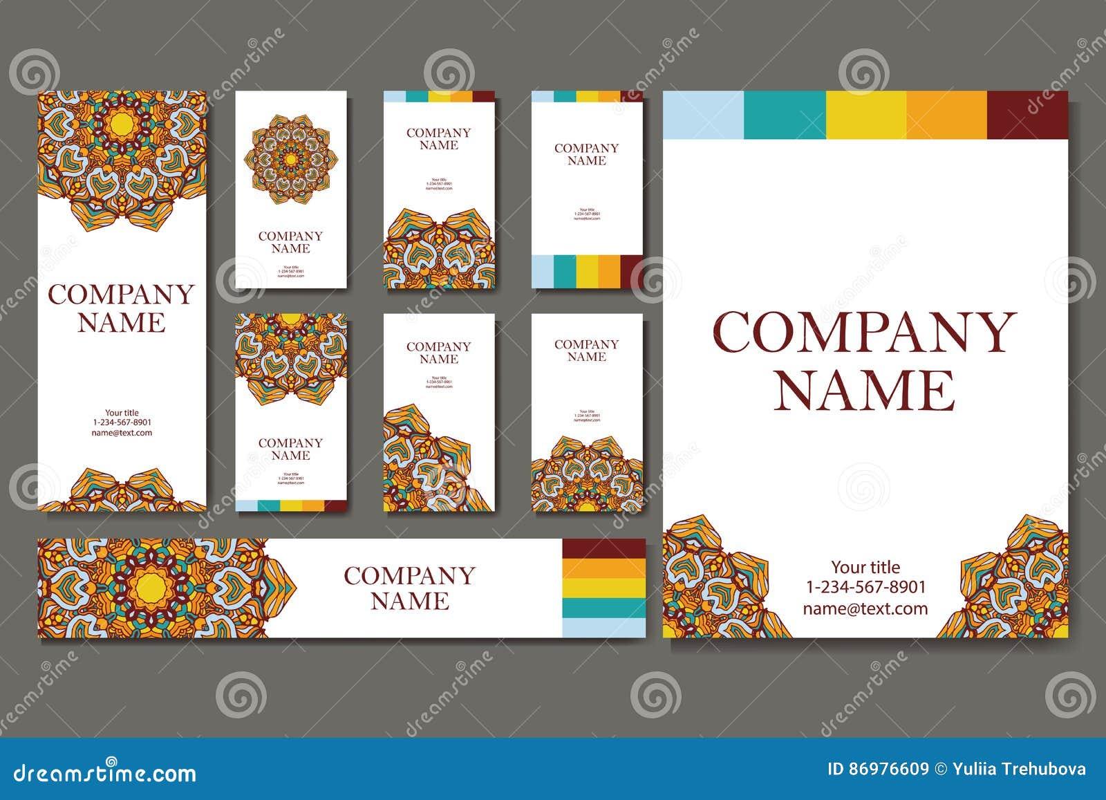 Carte De Visite Professionnelle Calibre Vecteur Fond Gomtrique Collection Ou Dinvitation LIslam Larabe Indien Motifs