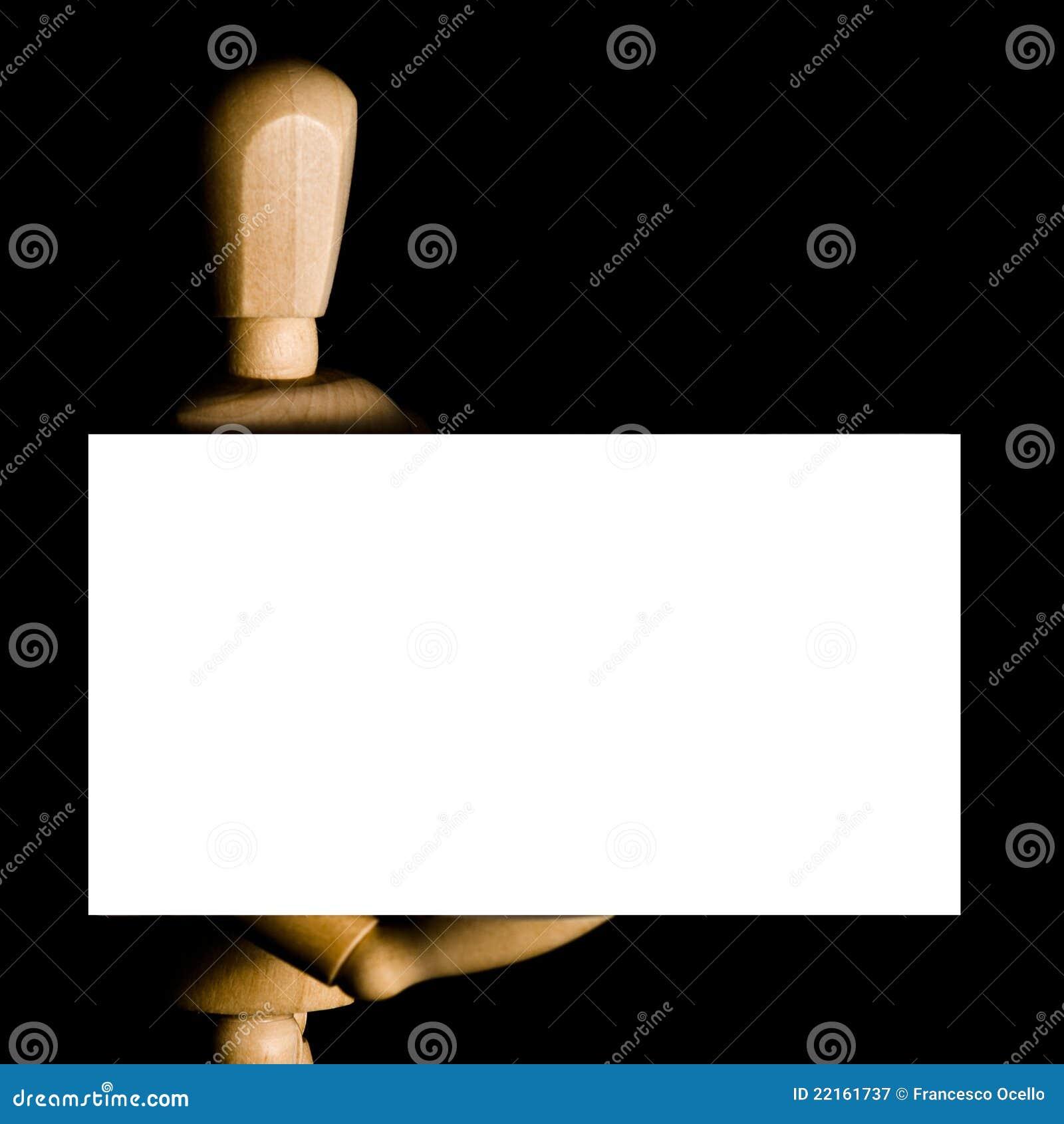 Download Carte De Visite Professionnelle Fixation Mannequin Image Stock