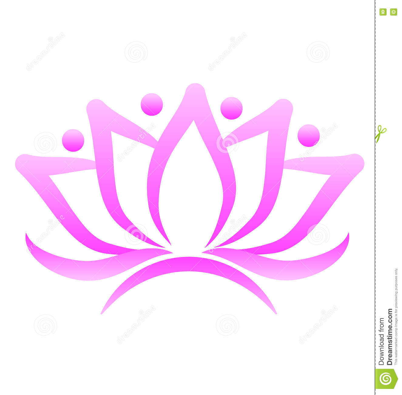 Conception Graphique De Vecteur Carte Visite Professionnelle Fleur Lotus