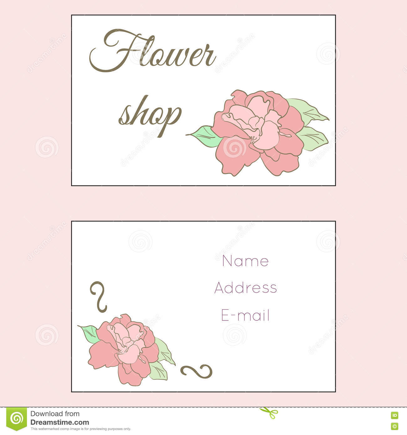 Download Carte De Visite Professionnelle Fleuriste Illustration Vecteur
