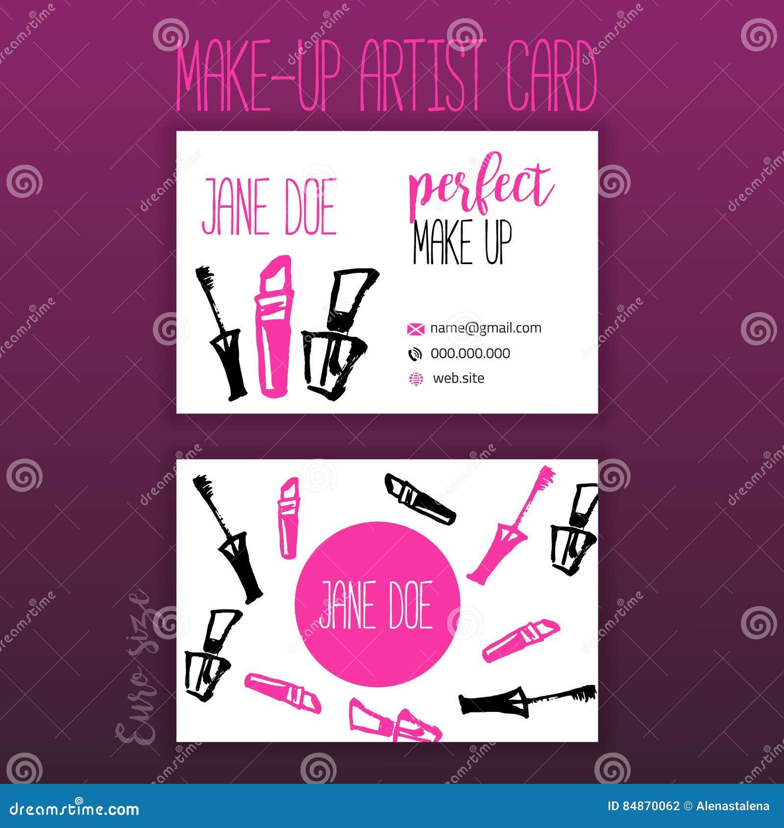 Carte De Visite Professionnelle Maquillage Avec Des Articles