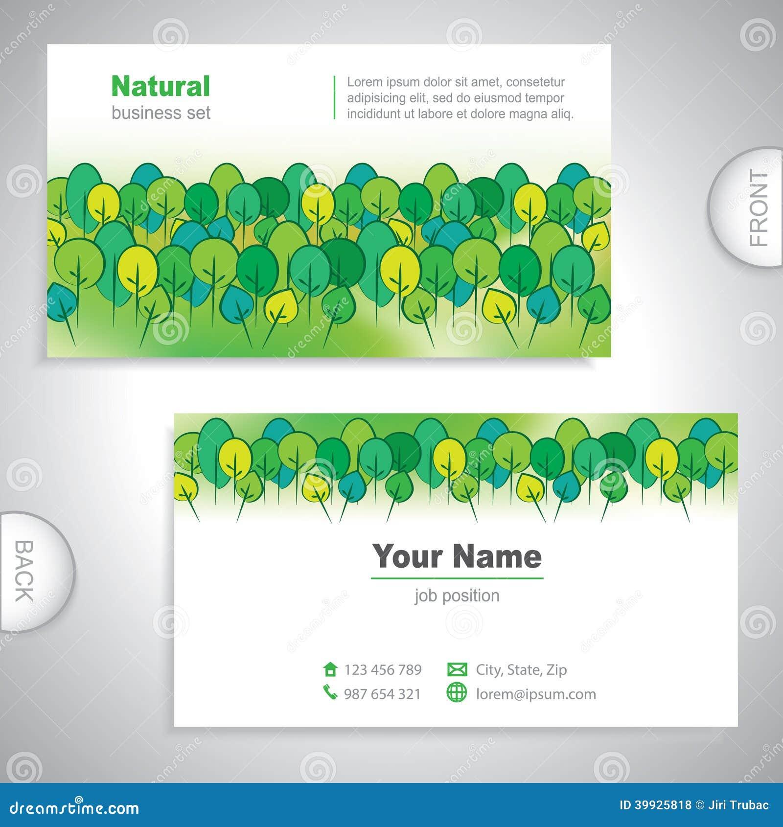 Carte De Visite Professionnelle Nature Universelle