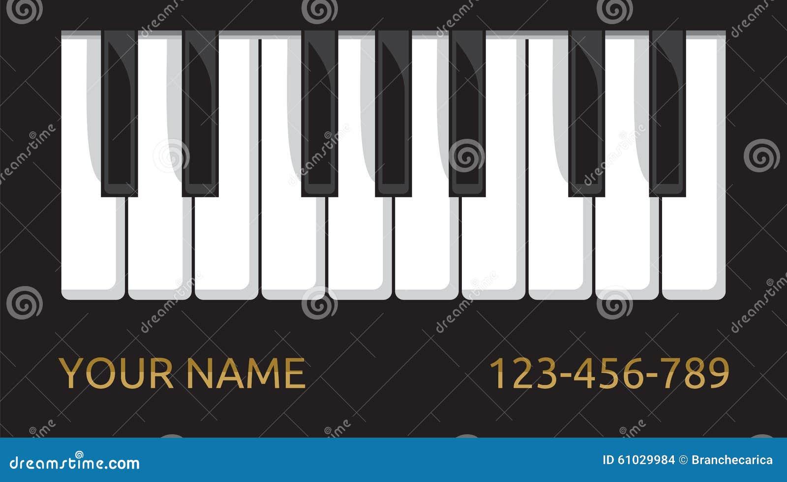 Carte De Visite Professionnelle Piano