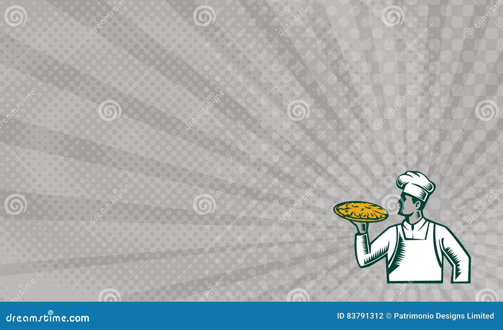 Carte De Visite Professionnelle De Visite De Pizza De Gravure Sur