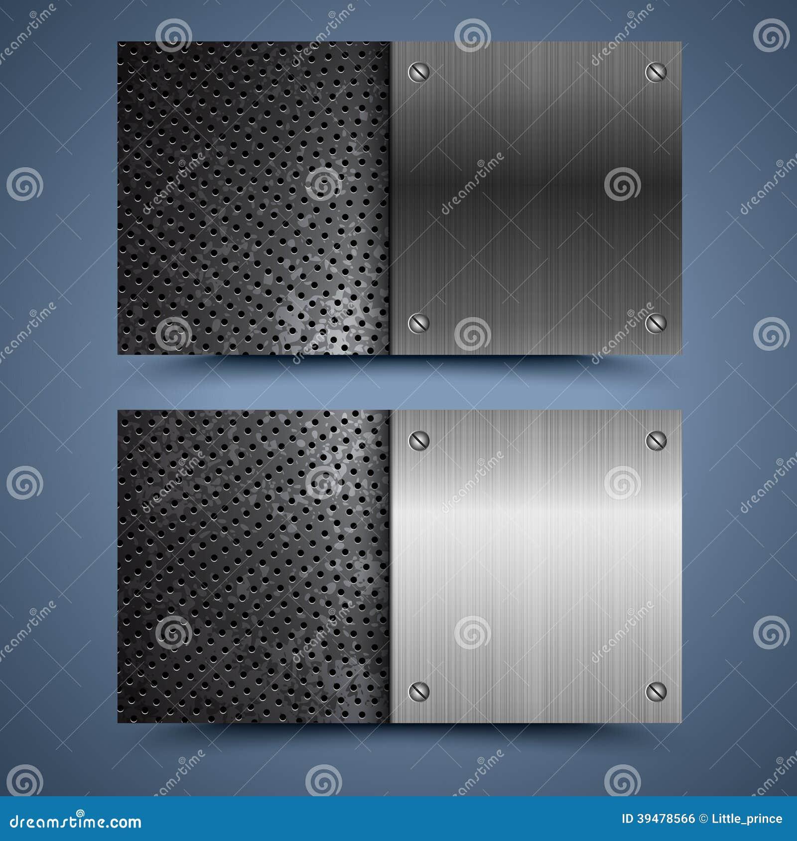 Carte De Visite Professionnelle Texture En Metal Fond Abstrait